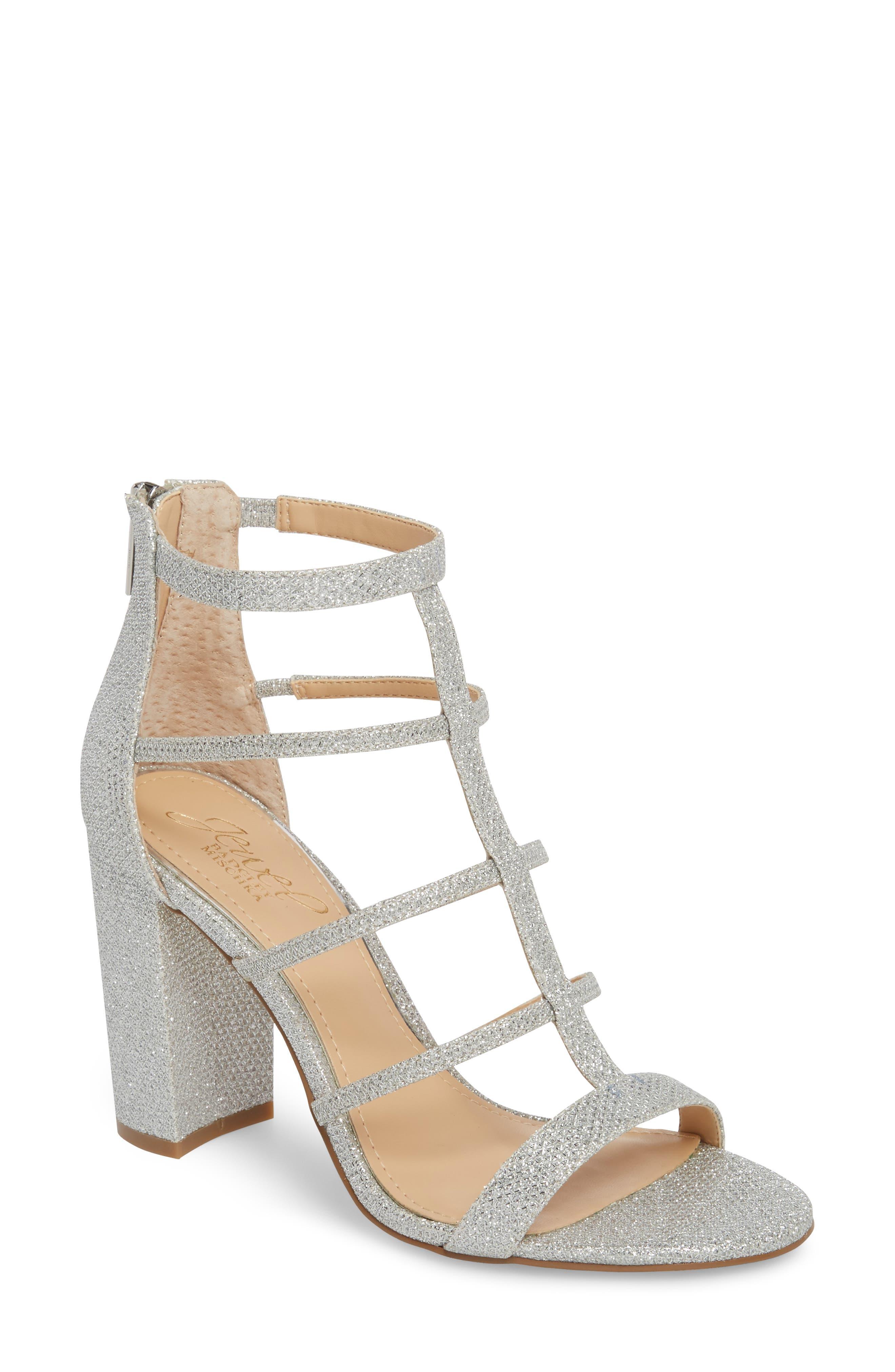 Jewel Badgley Mischka Teddy Glitter Sandal (Women)