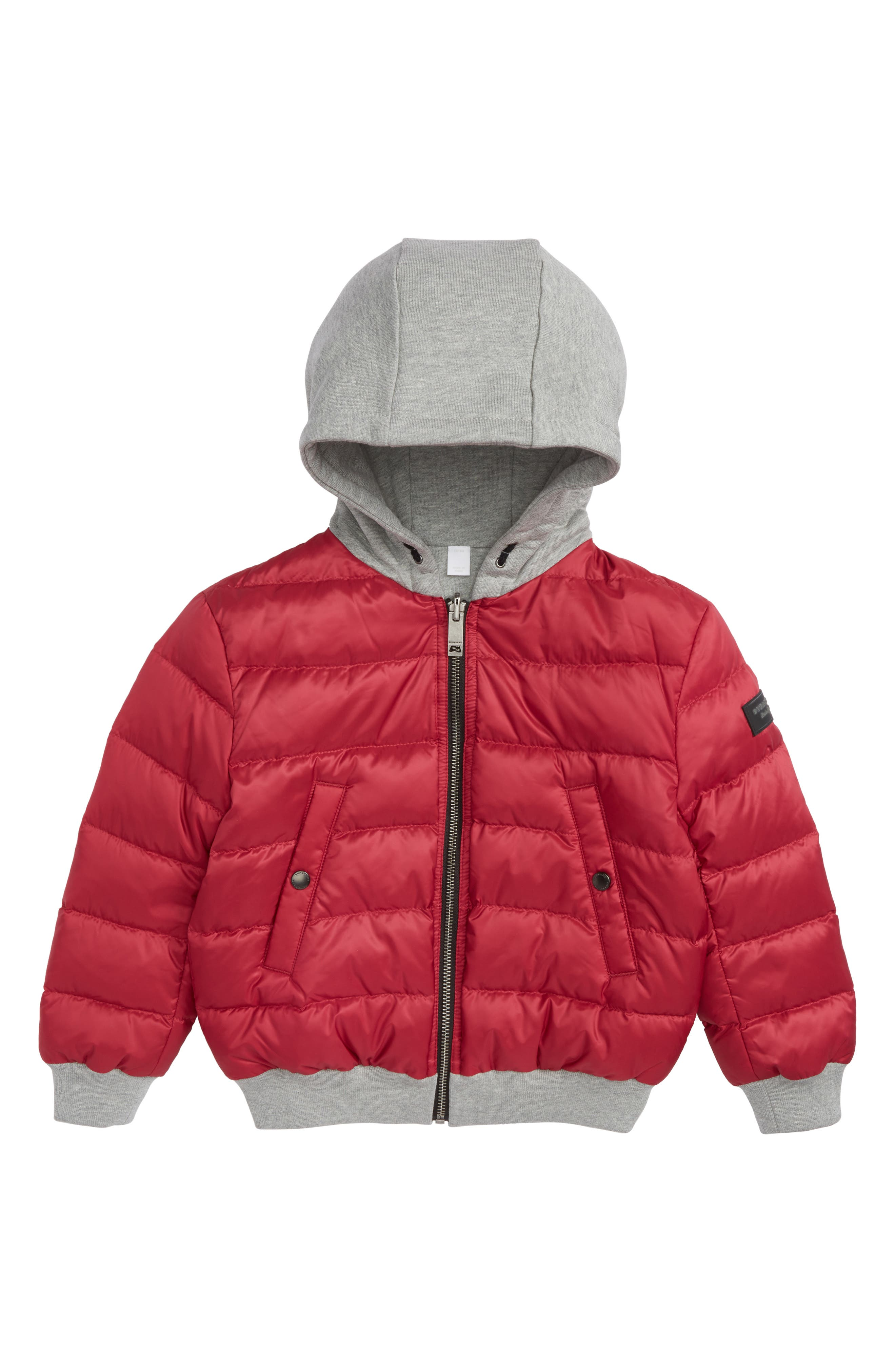 Mini Langleigh Reversible Down Jacket,                         Main,                         color, Crimson Pink