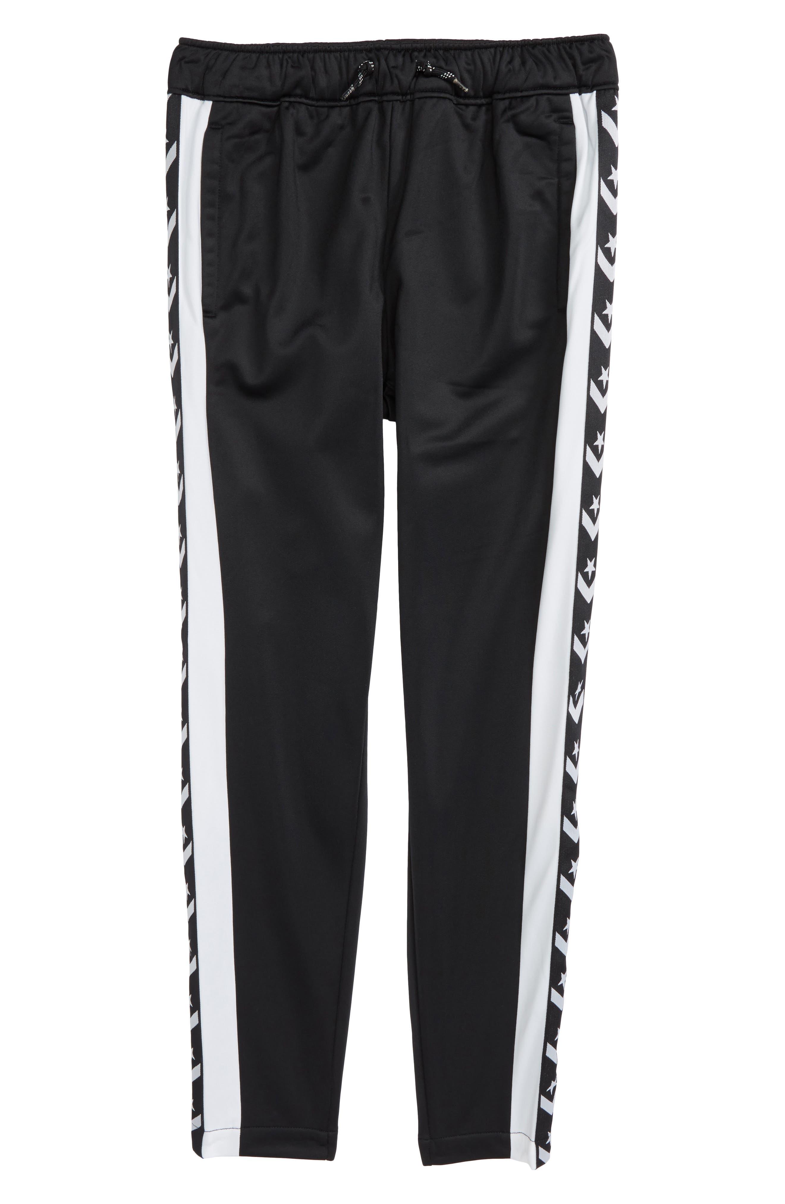 Heritage Snap Leg Warm-Up Pants,                             Main thumbnail 1, color,                             Black
