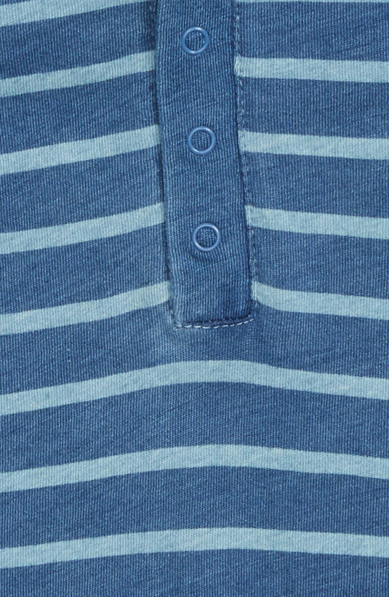 Hooded Romper,                             Alternate thumbnail 2, color,                             Blue Indigo Breton