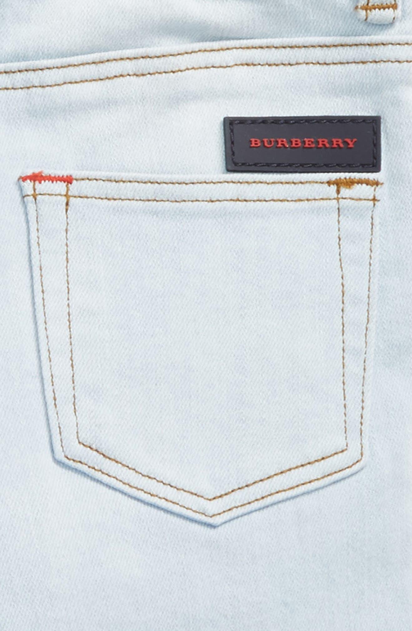 Alternate Image 3  - Burberry Skinny Jeans (Baby Boys & Toddler Boys)