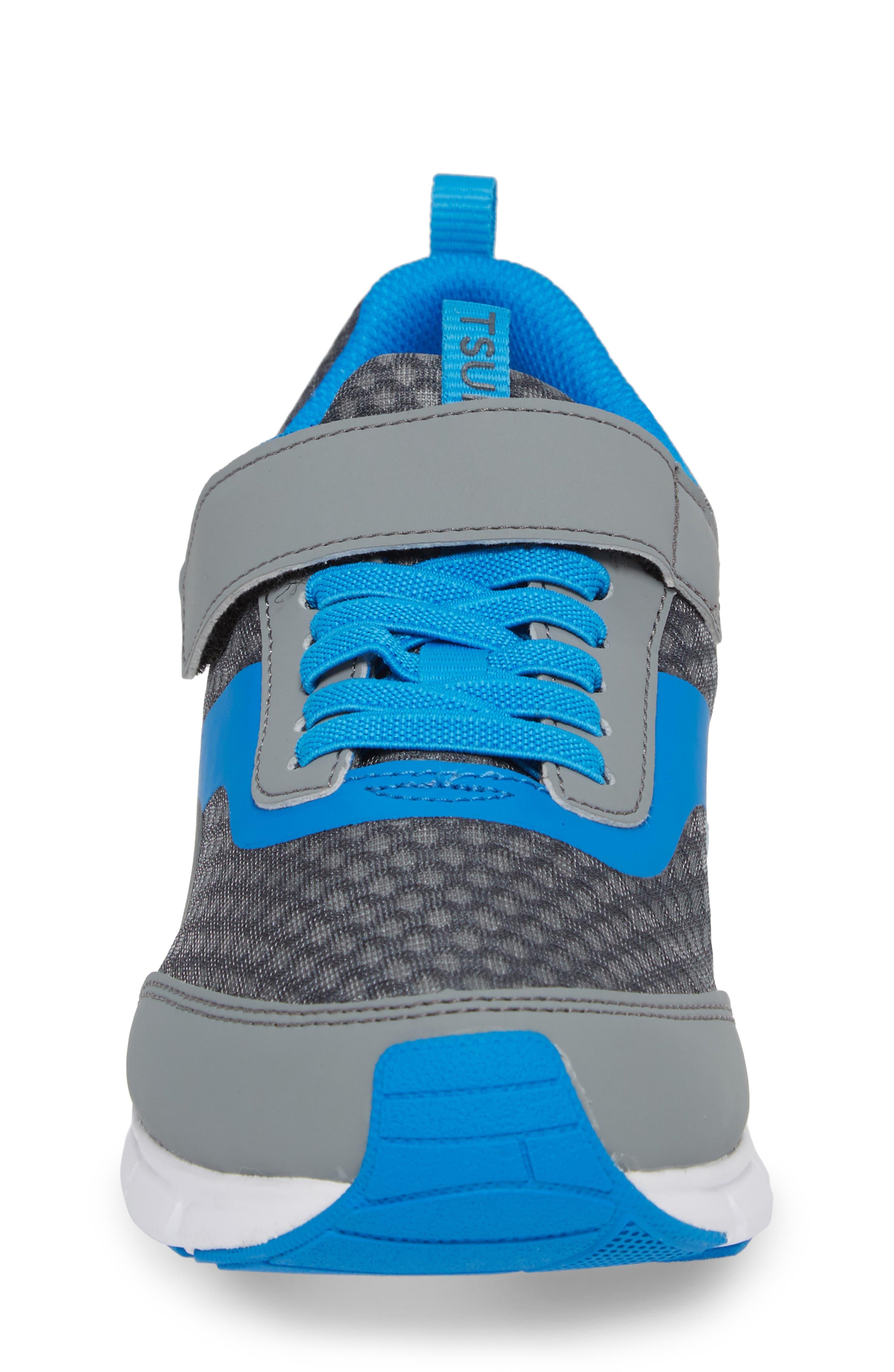 Sonic Washable Sneaker,                             Alternate thumbnail 4, color,                             Gray/ Royal
