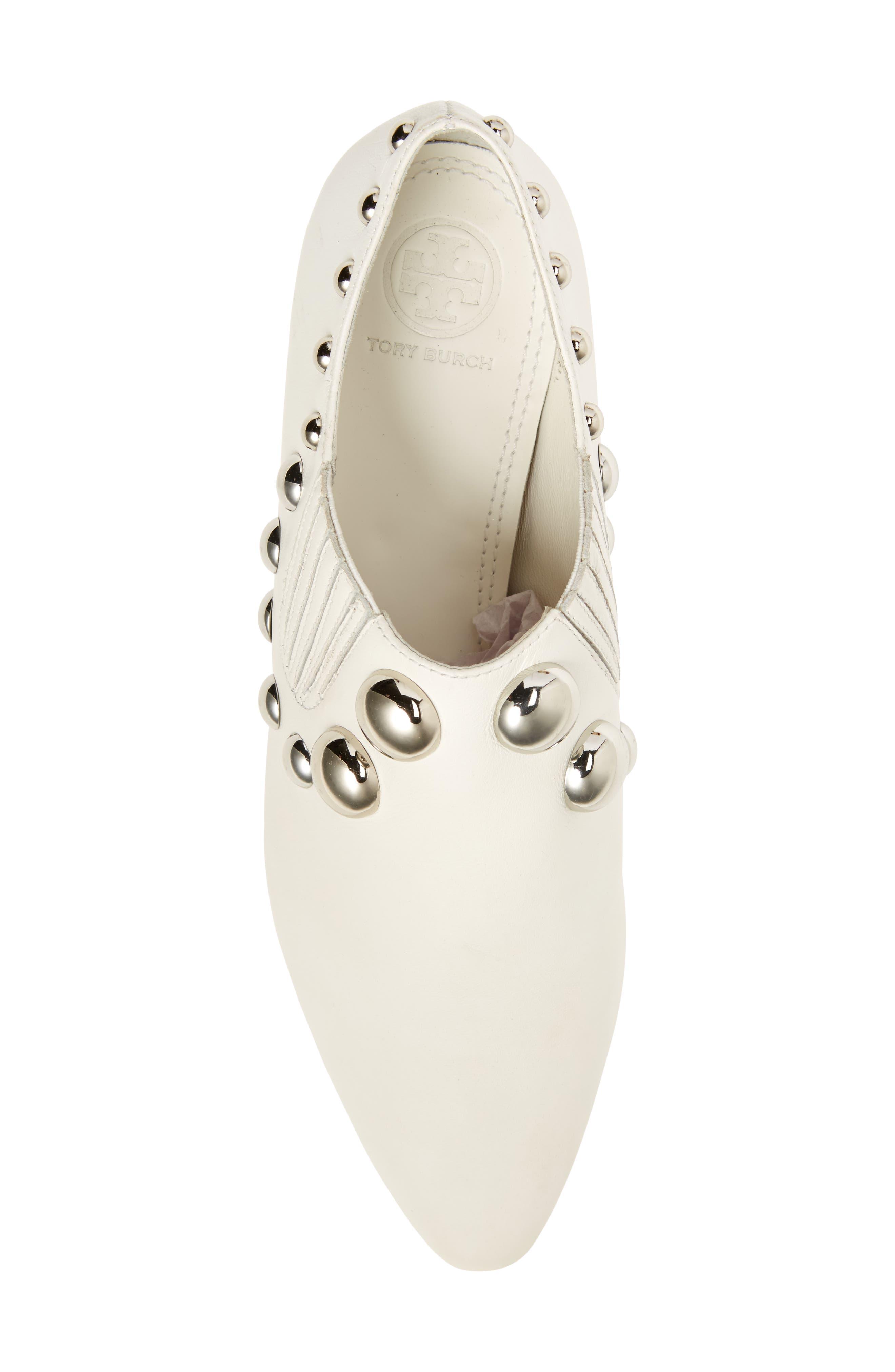 Blythe Studded Loafer,                             Alternate thumbnail 5, color,                             White