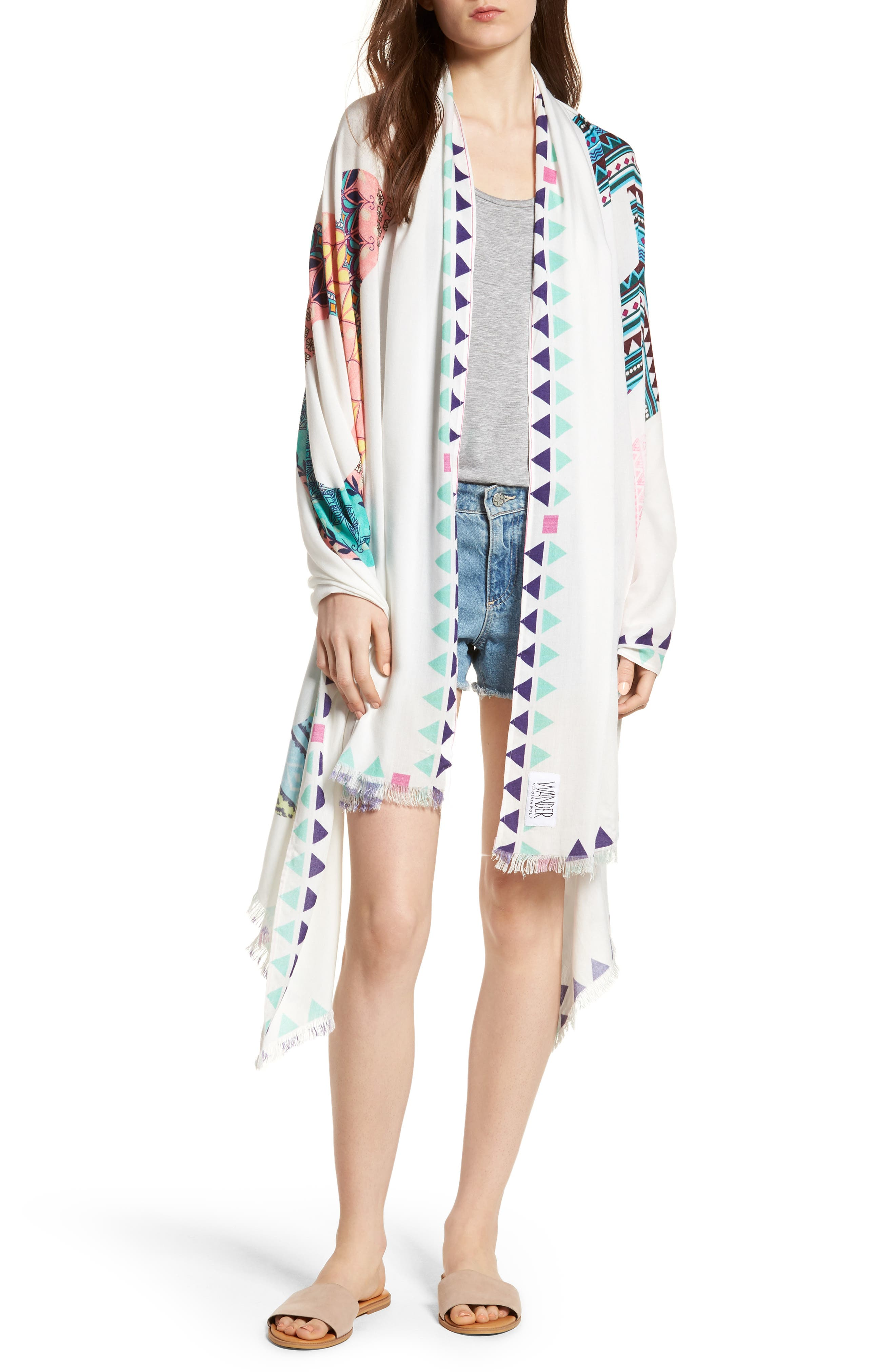 Wrap Yourself in Positive Vibes - Squad Scarf,                         Main,                         color, White