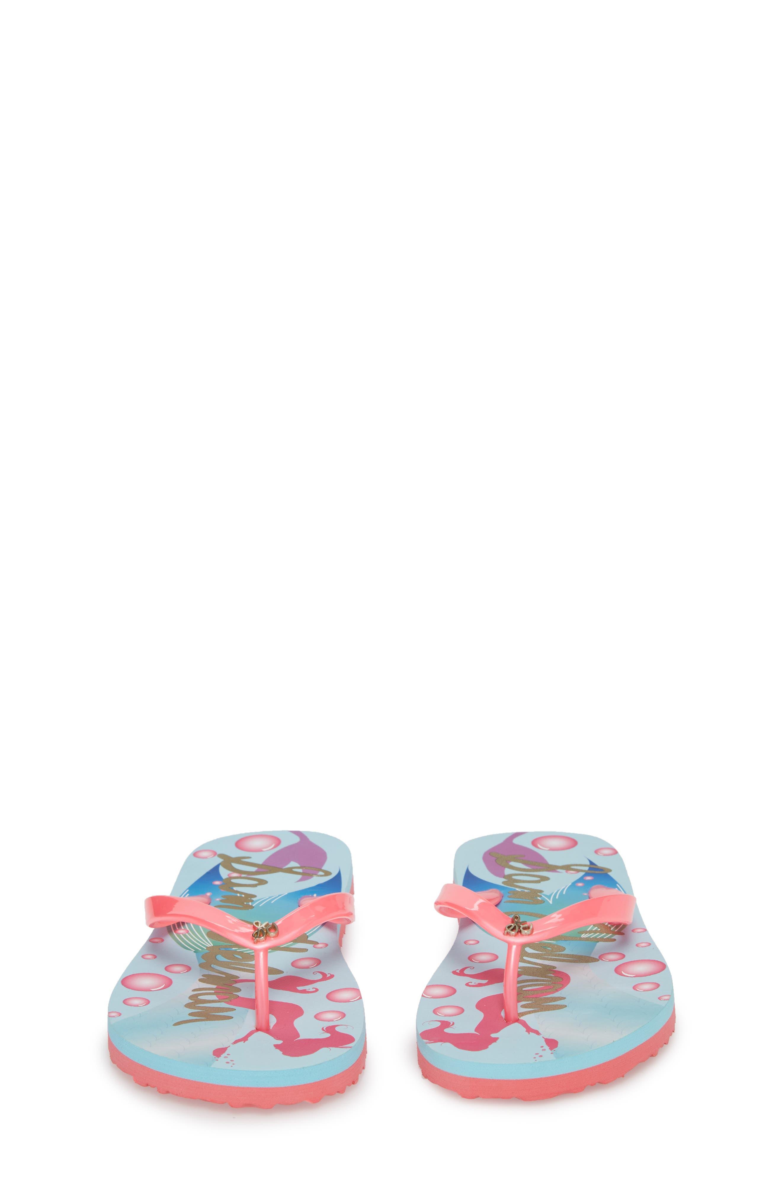 Mandy Flip Flop,                             Alternate thumbnail 5, color,                             Mermaid Turquoise/ Pink