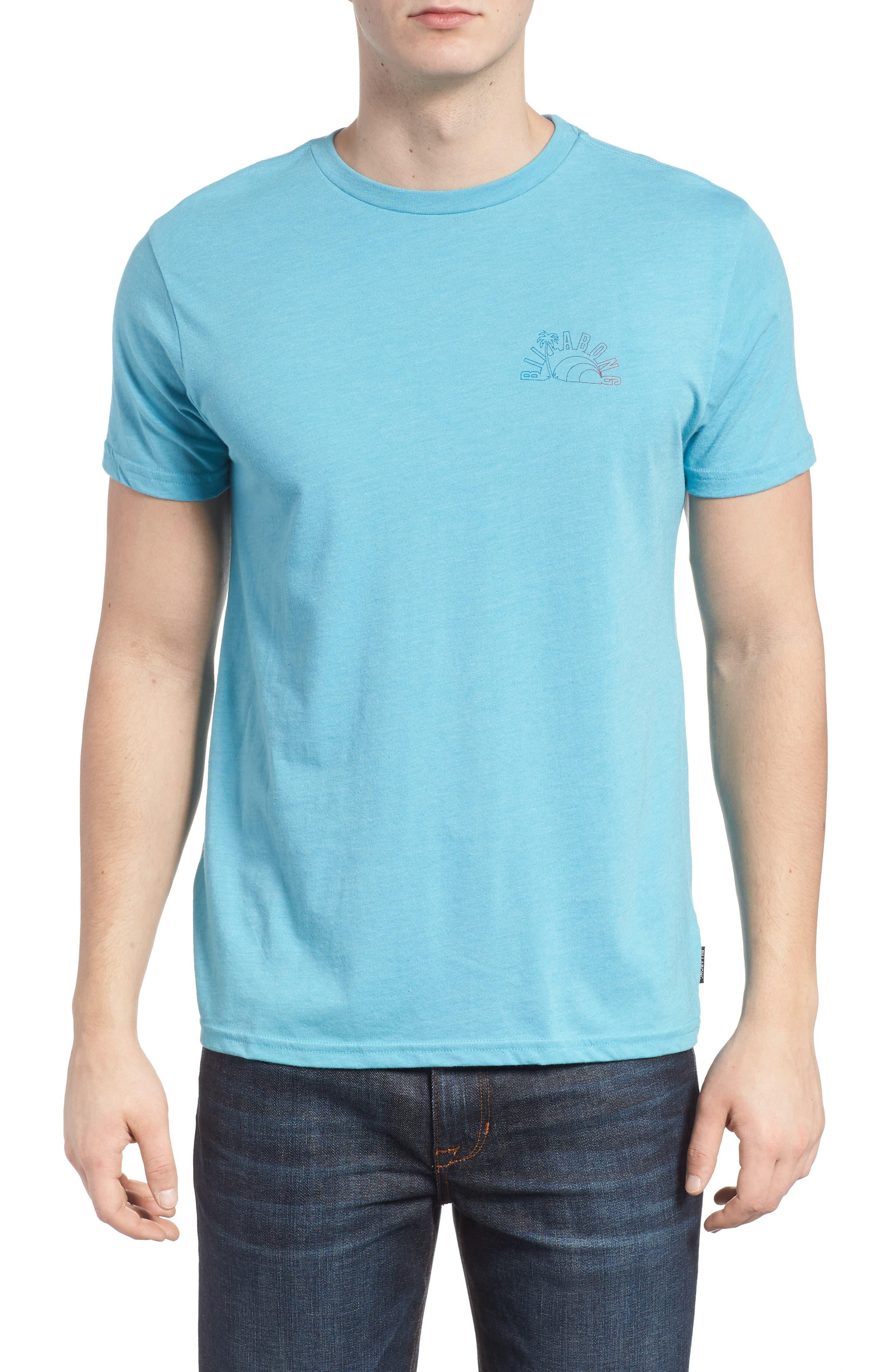 Rainbow Graphic T-Shirt,                         Main,                         color, Aqua Heather