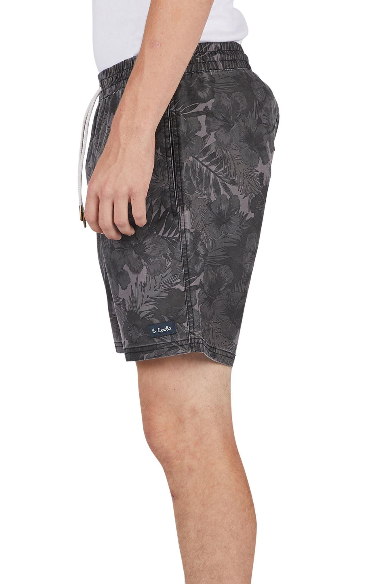 Amphibious Shorts,                             Alternate thumbnail 3, color,                             Black Floral