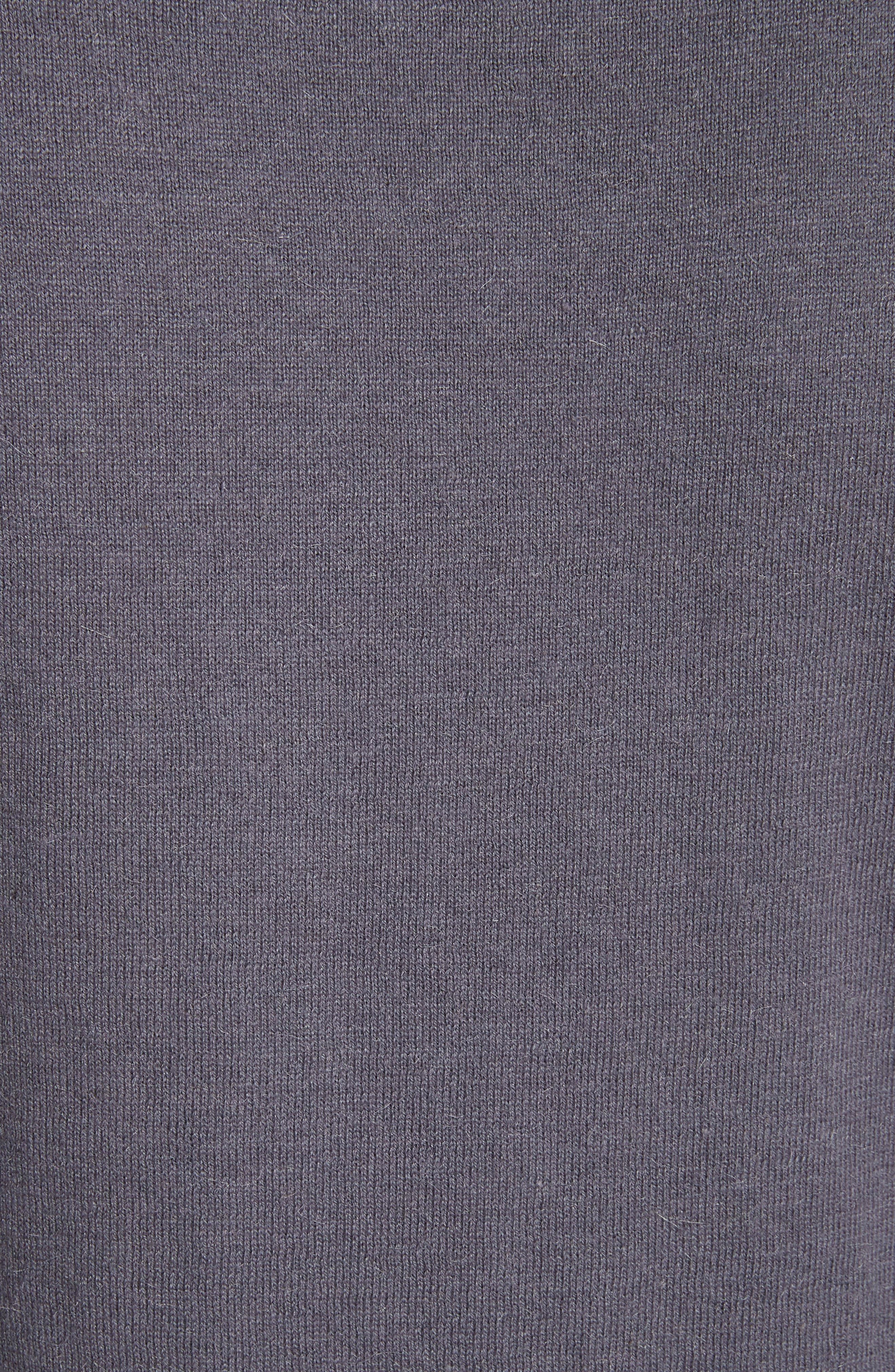 Chatswoth Woven Front Sweater,                             Alternate thumbnail 5, color,                             Grey