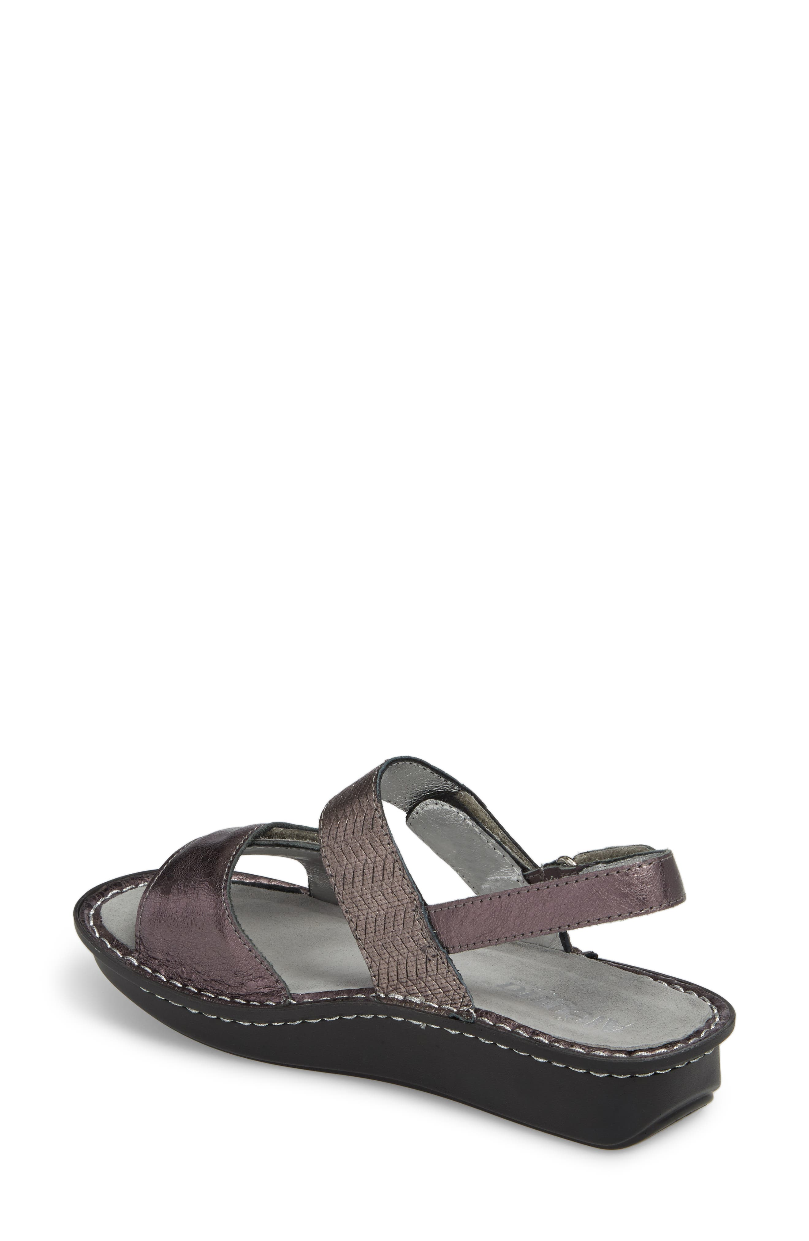 'Verona' Sandal,                             Alternate thumbnail 2, color,                             Braided Pewter Leather