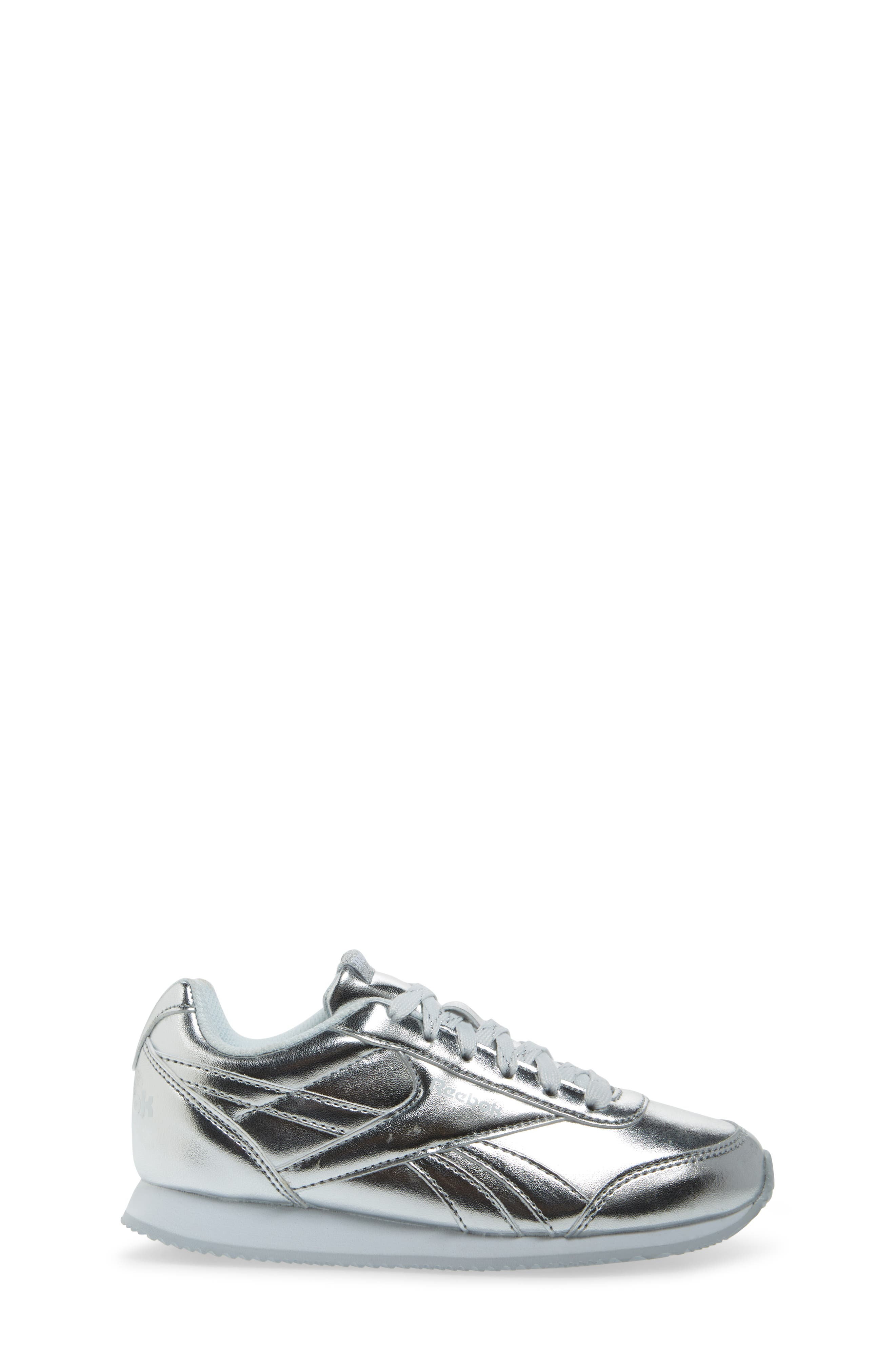 Royal Classic Jogger 2.0 Sneaker,                             Alternate thumbnail 3, color,                             Silver Metallic/ White