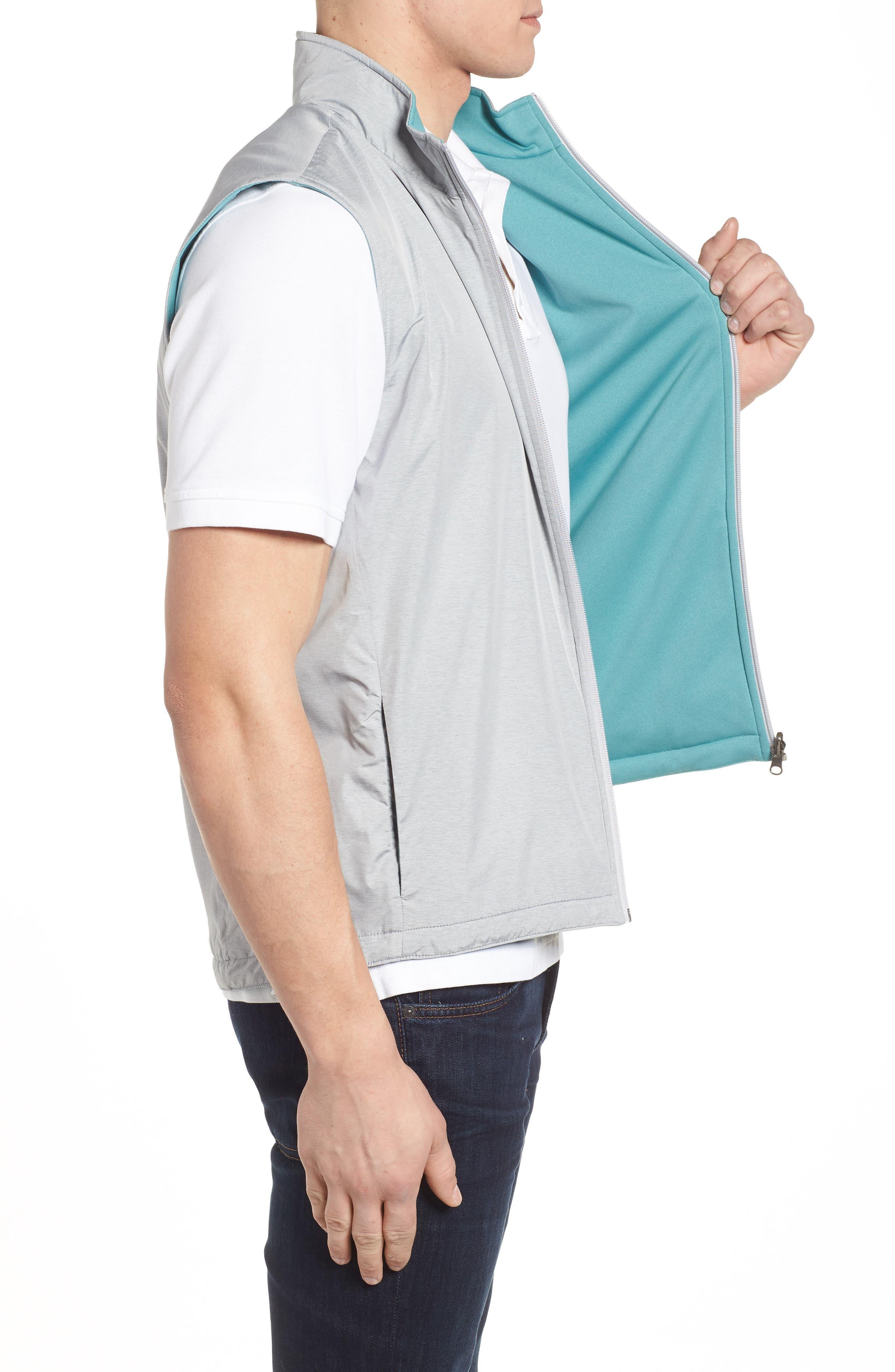 Carthage Reversible Vest,                             Alternate thumbnail 3, color,                             British Grey