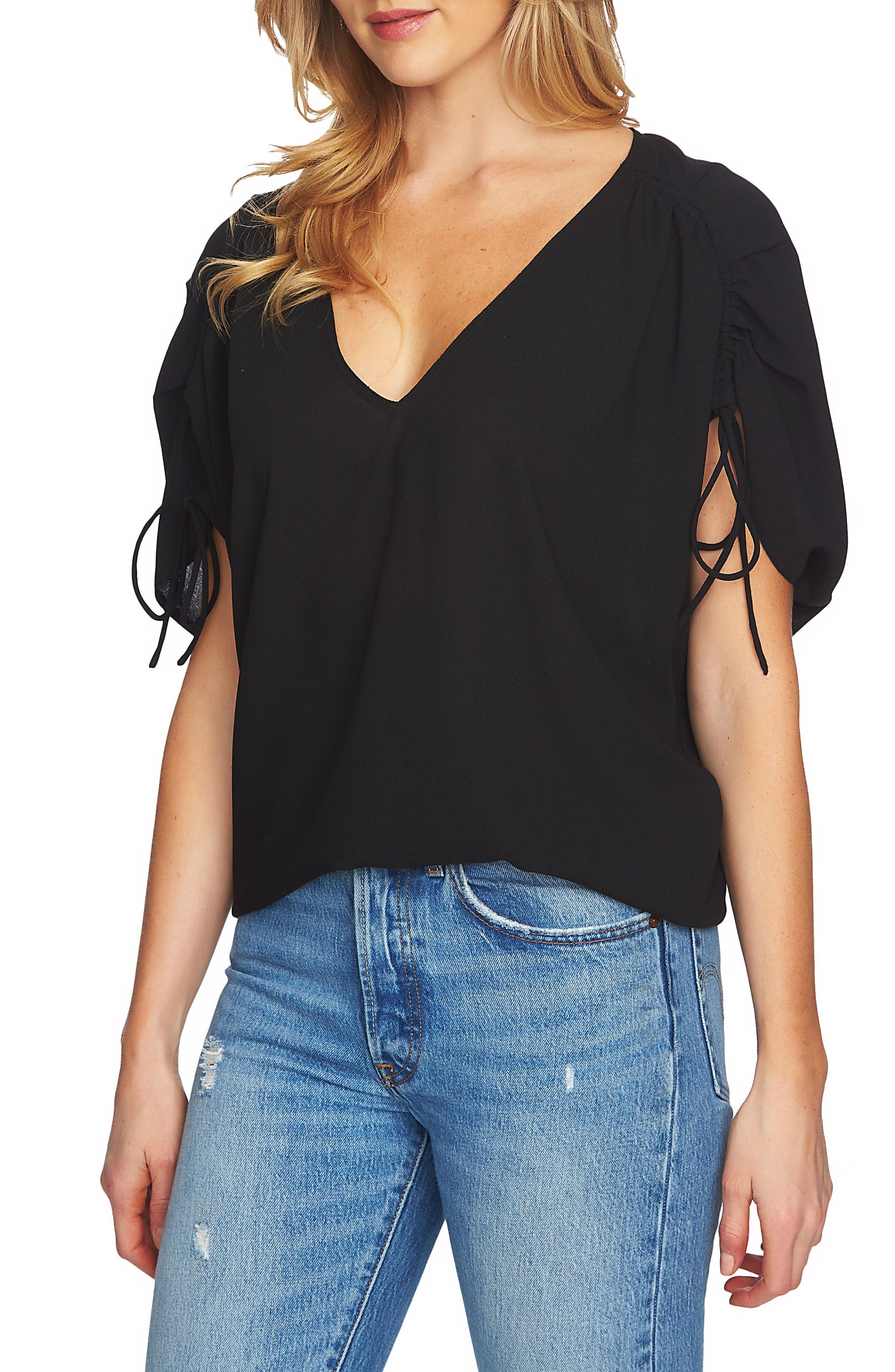 Alternate Image 1 Selected - 1.STATE Cinch Sleeve Blouse