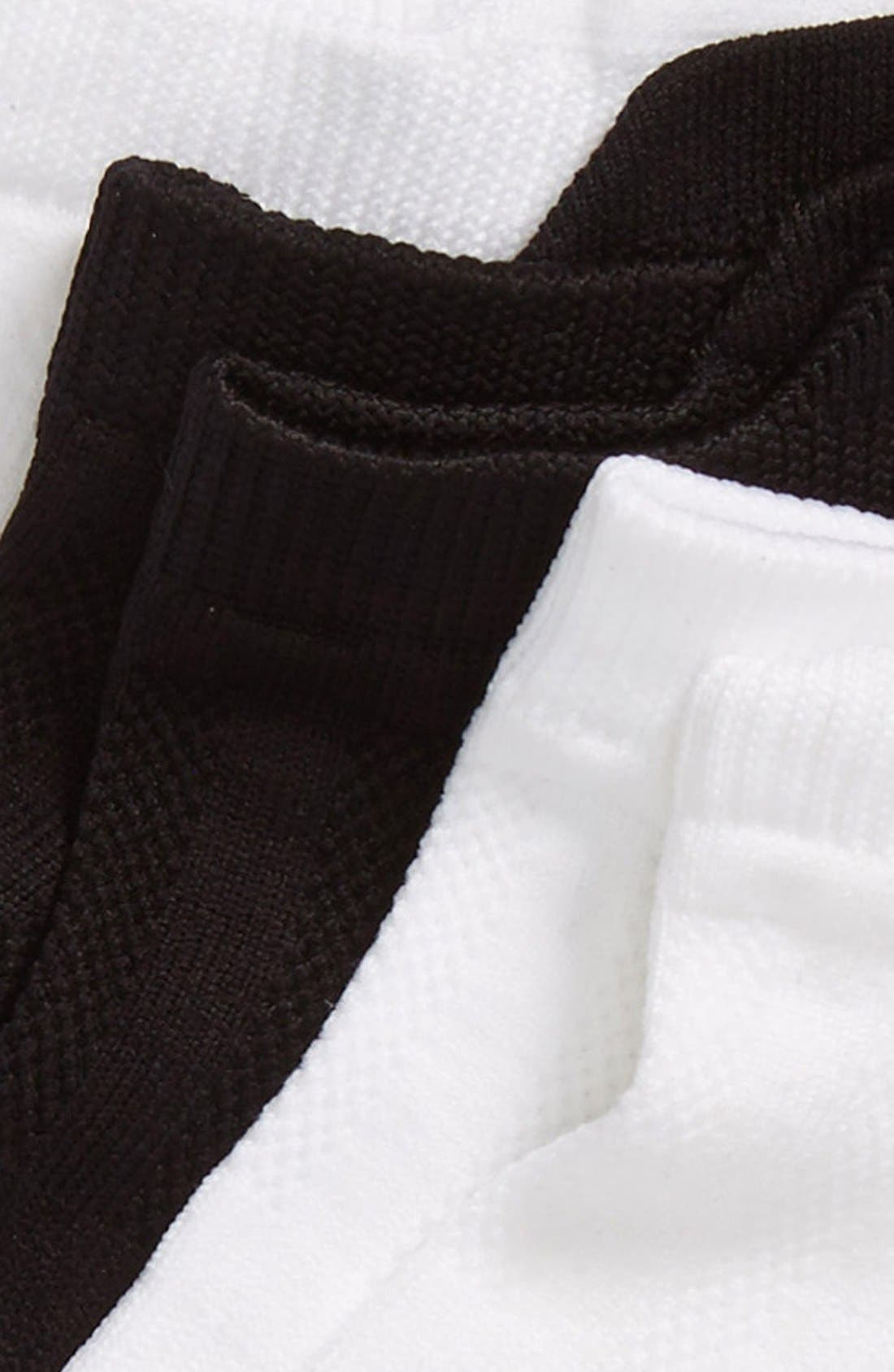 3-Pack Microfiber Tab Performance Socks,                             Alternate thumbnail 2, color,                             White/ Black/ White