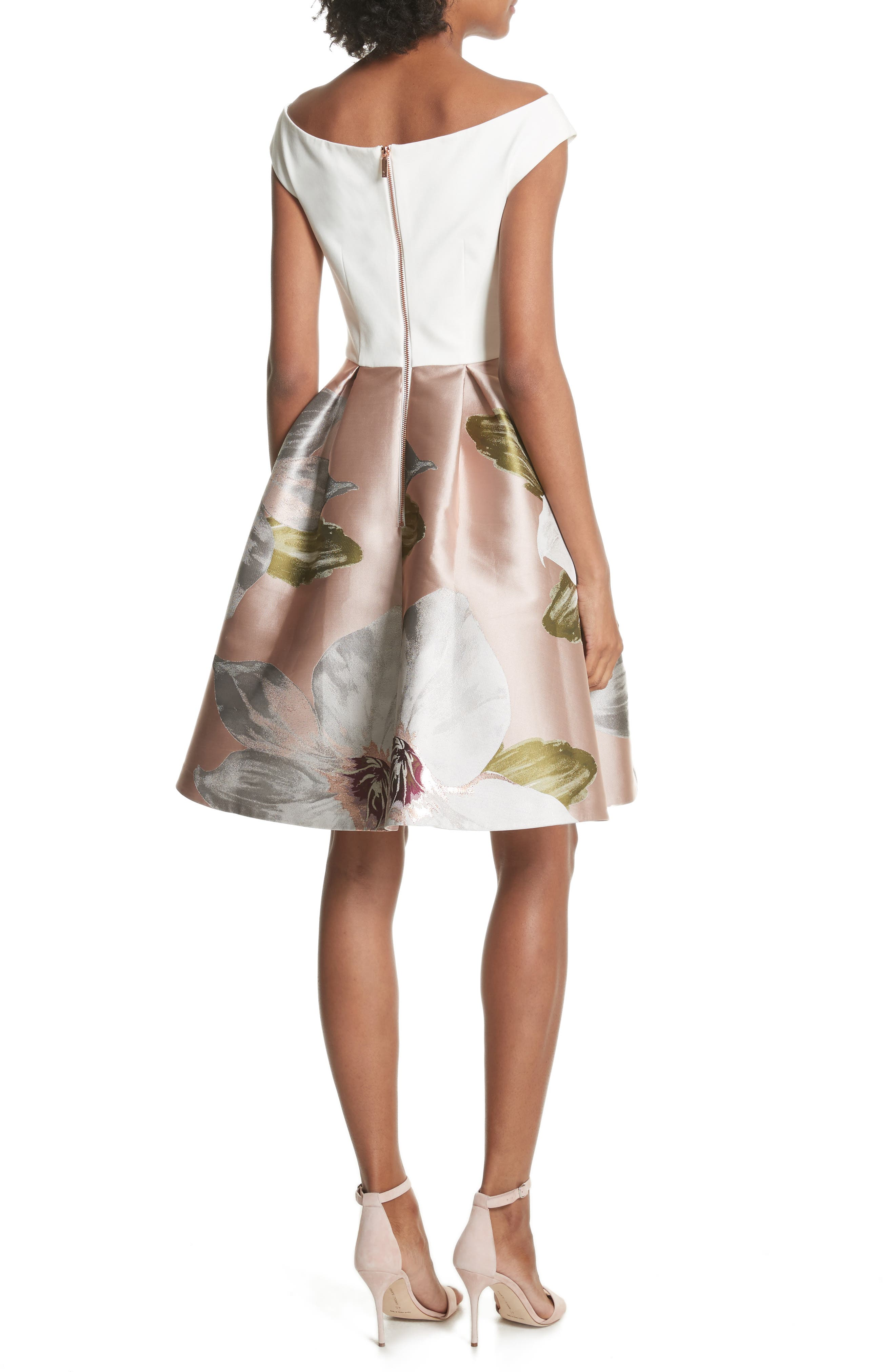 Chatsworth Fit & Flare Dress,                             Alternate thumbnail 2, color,                             Natural