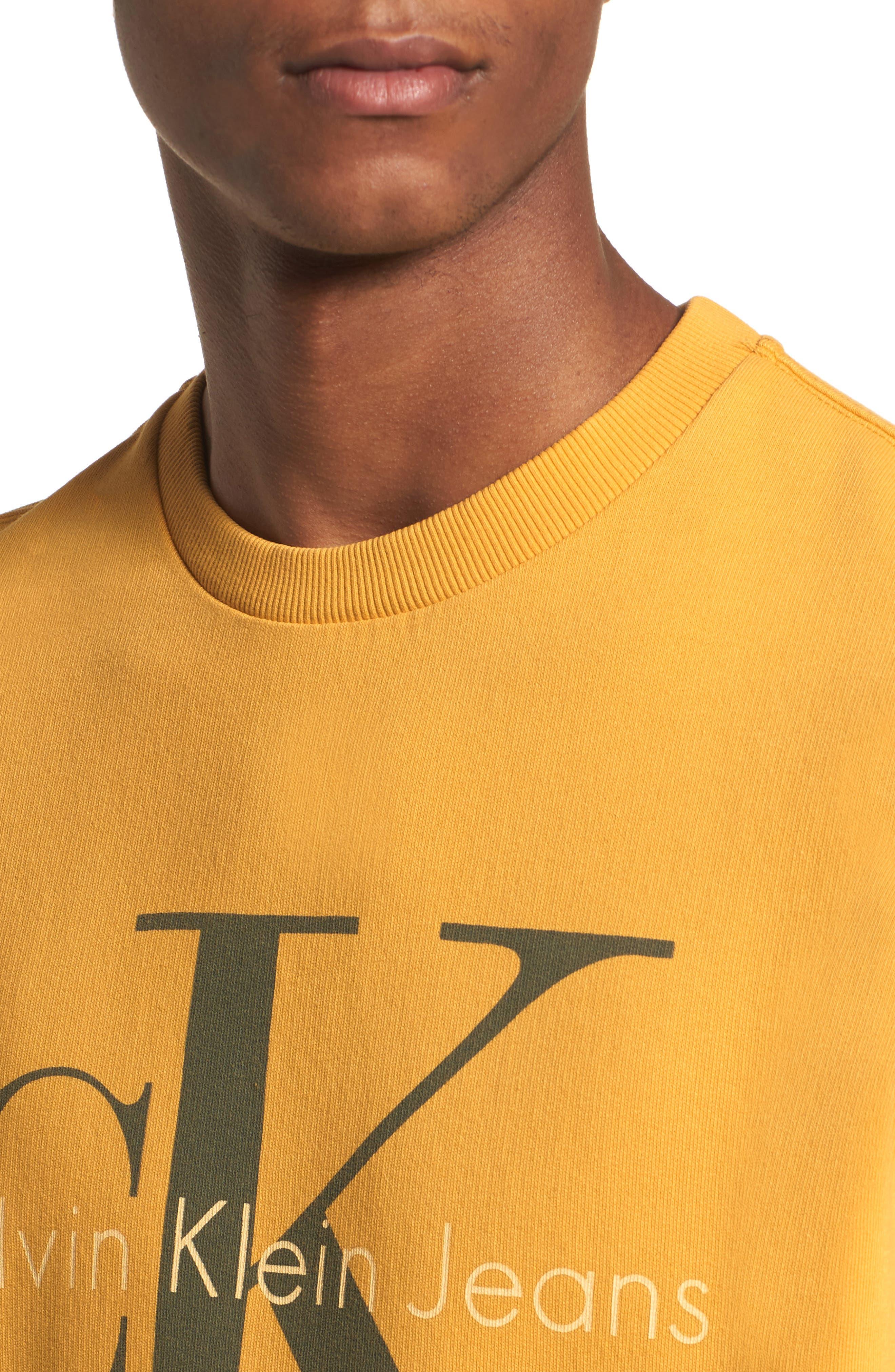 Pop Color Sweatshirt,                             Alternate thumbnail 4, color,                             Spectra Yellow