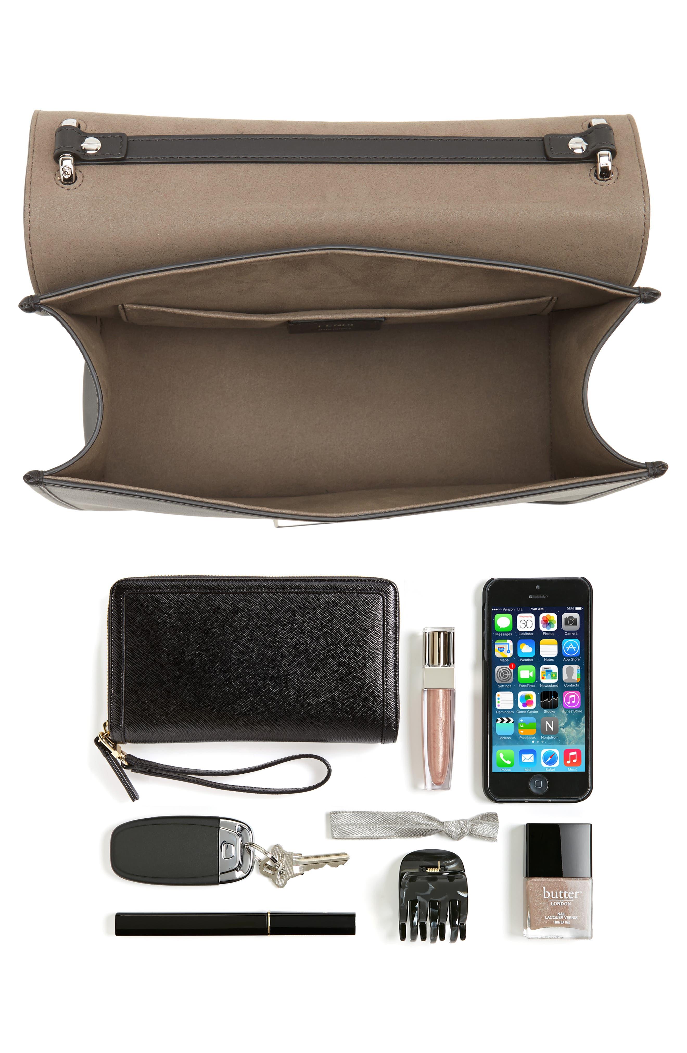 Kan I Calfskin Leather Shoulder Bag,                             Alternate thumbnail 7, color,