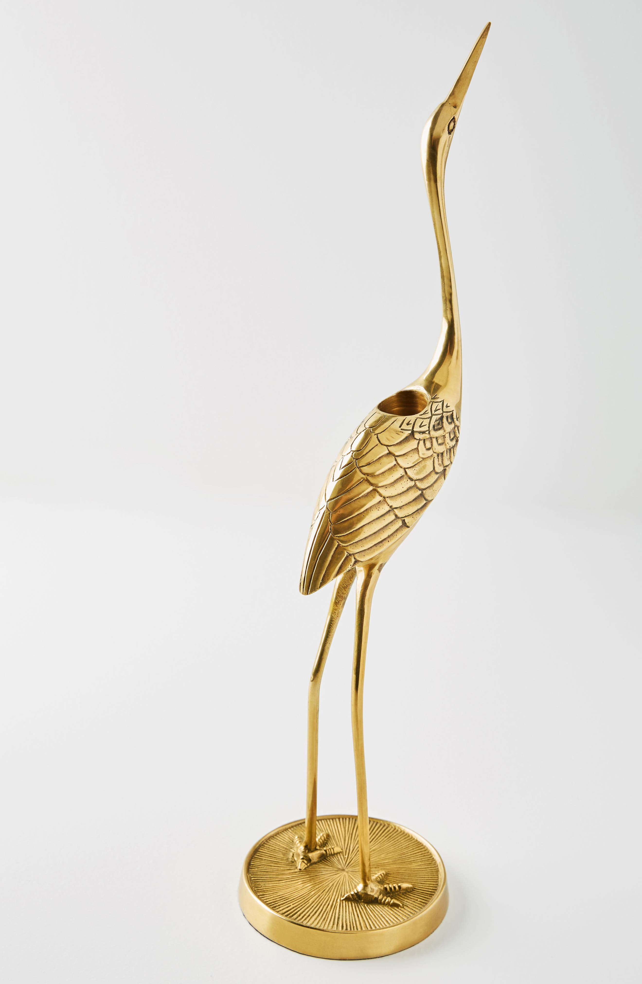 Crane Taper Candleholder,                             Alternate thumbnail 2, color,                             Bronze