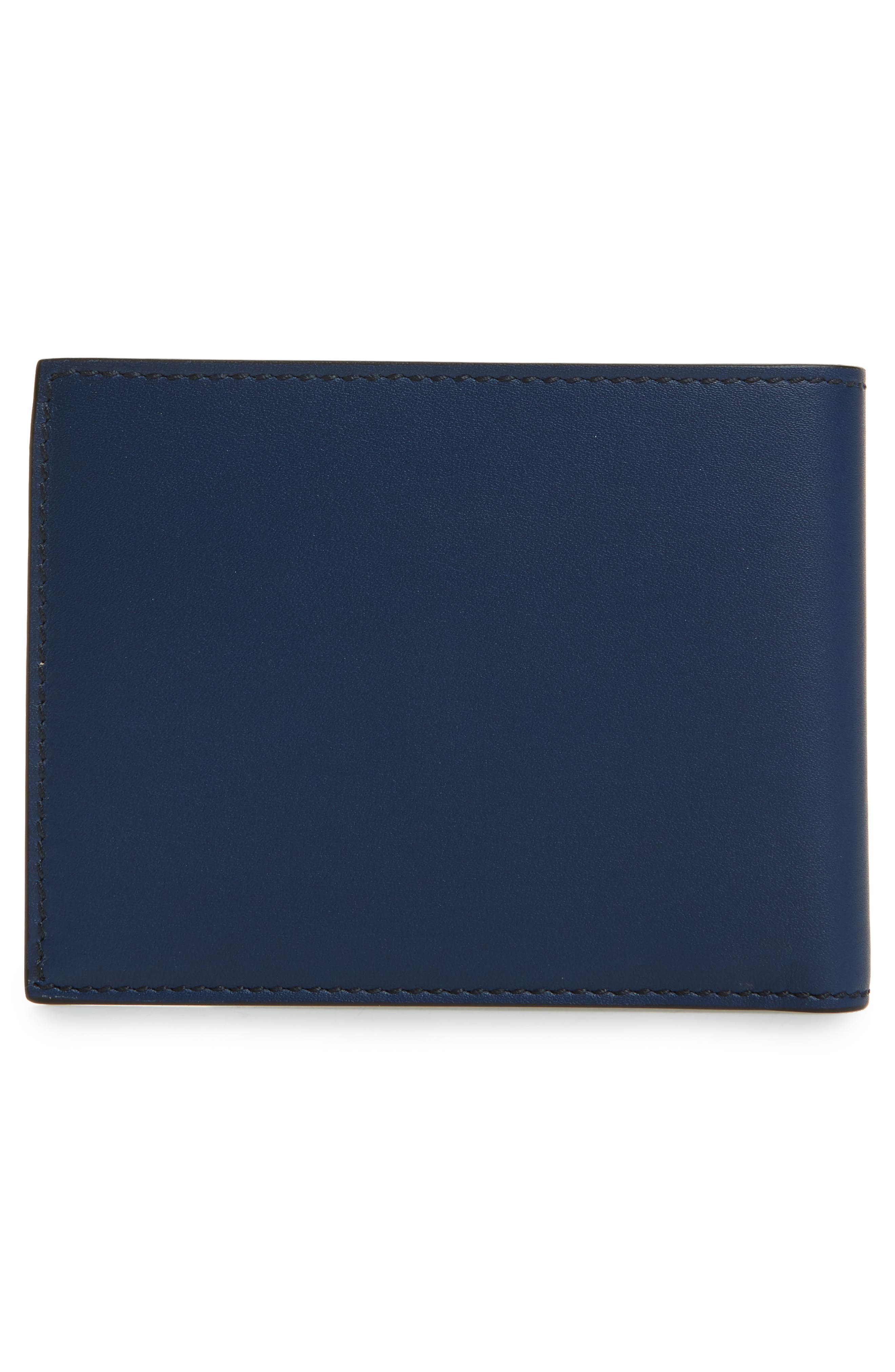 Leather Bifold Wallet,                             Alternate thumbnail 2, color,                             Ultramarine