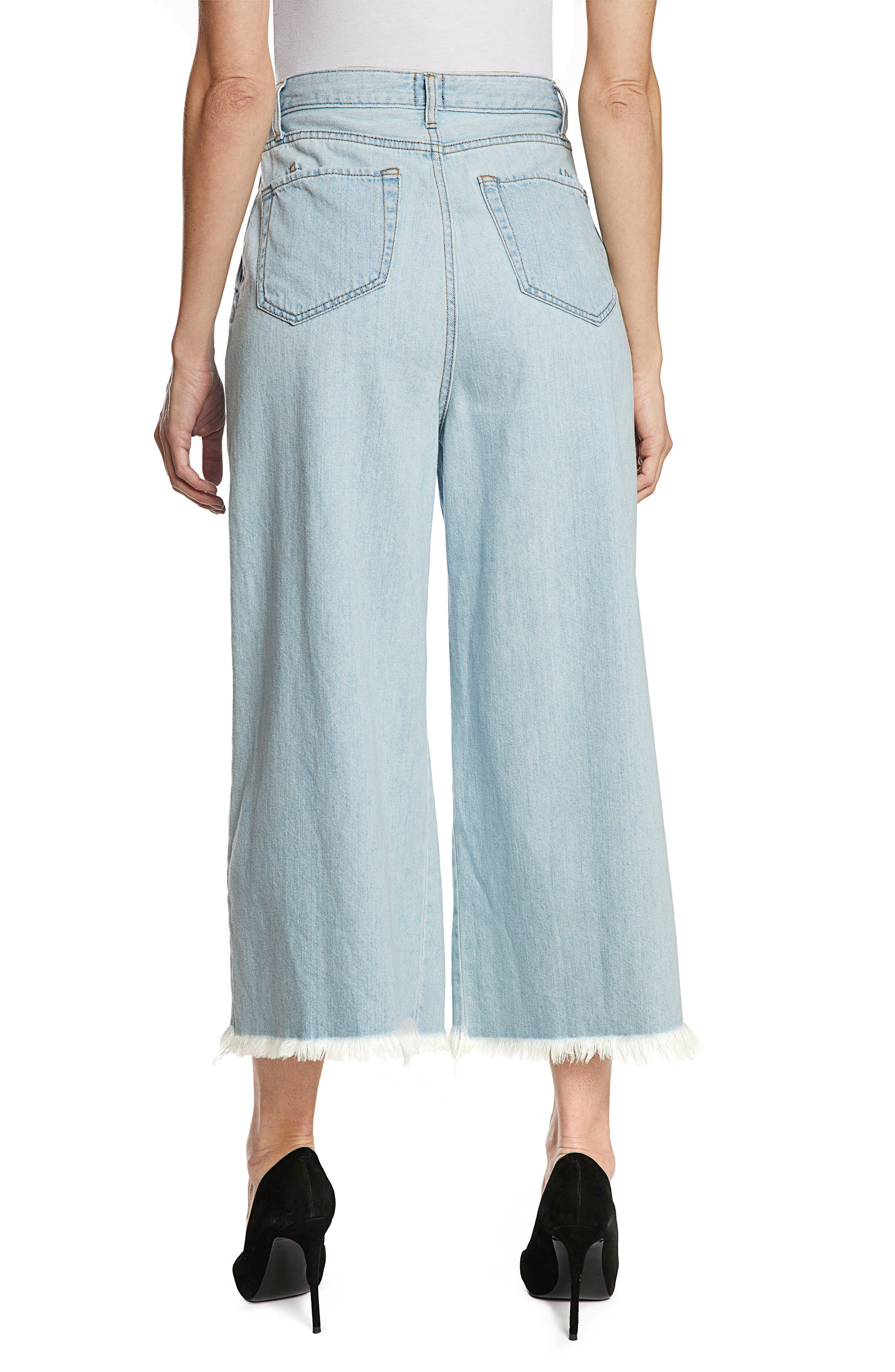 Javelin High Waist Crop Wide Leg Jeans,                             Alternate thumbnail 2, color,                             Light Wash