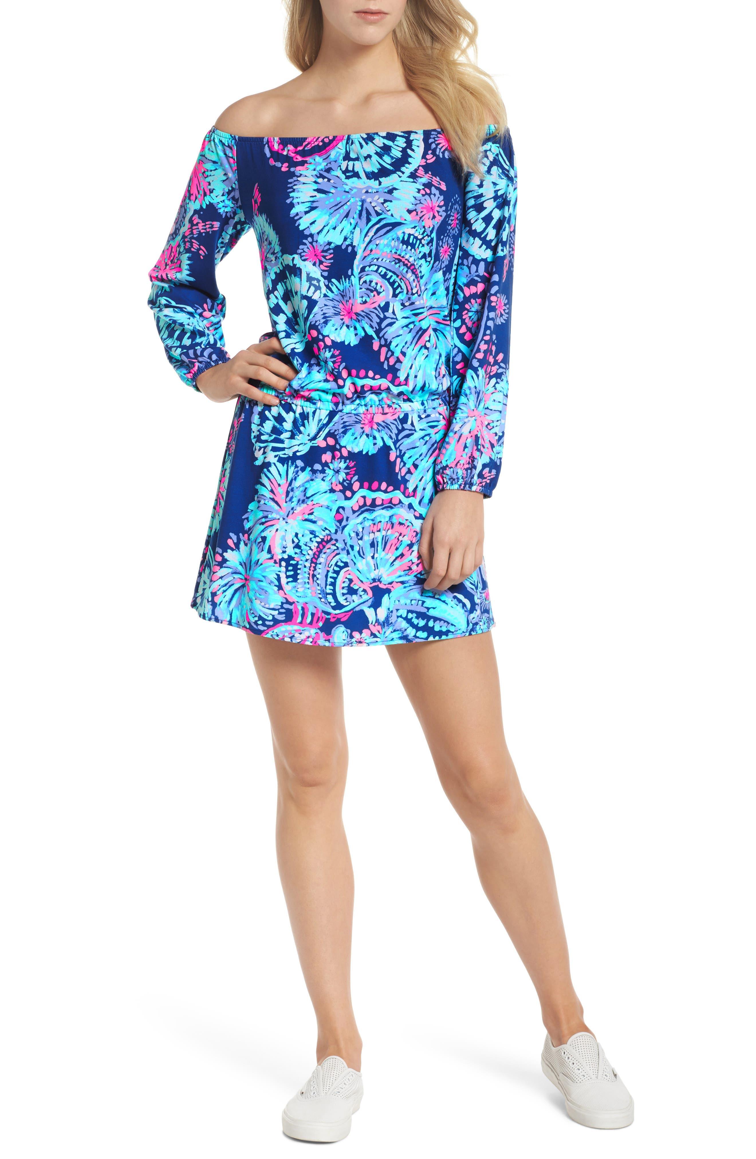 Lana Skort Romper,                         Main,                         color, Deep Indigo Gypsea Girl