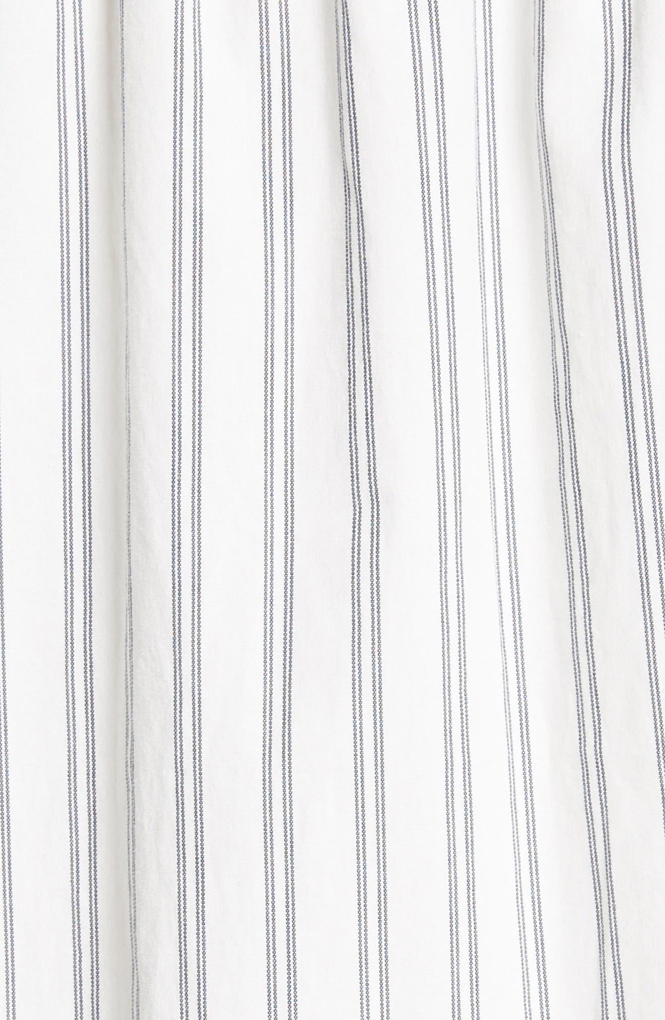 Marison Stripe A-Line Dress,                             Alternate thumbnail 5, color,                             Porcelain