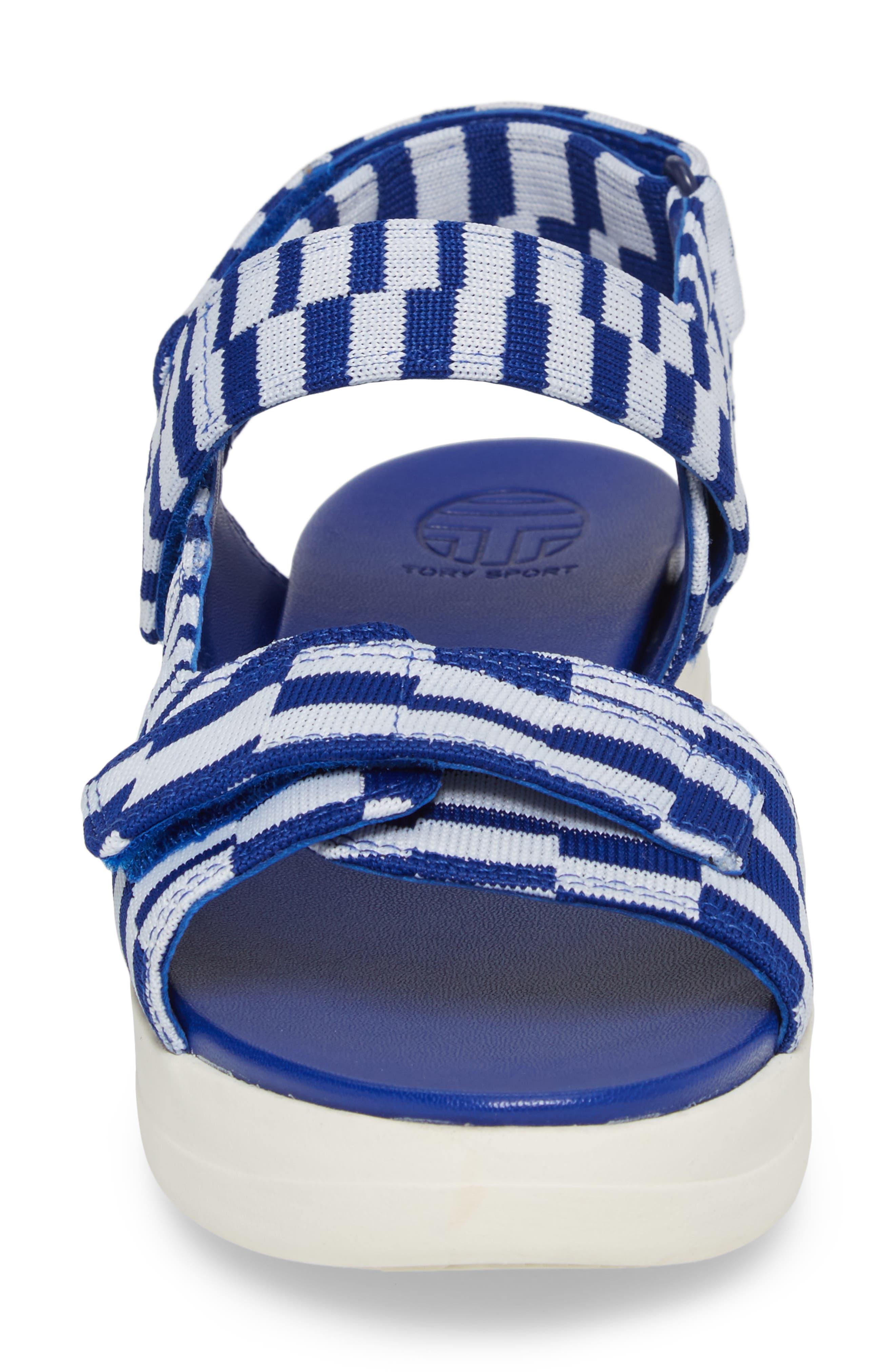 Flatform Sandal,                             Alternate thumbnail 4, color,                             Check Slalom Blue