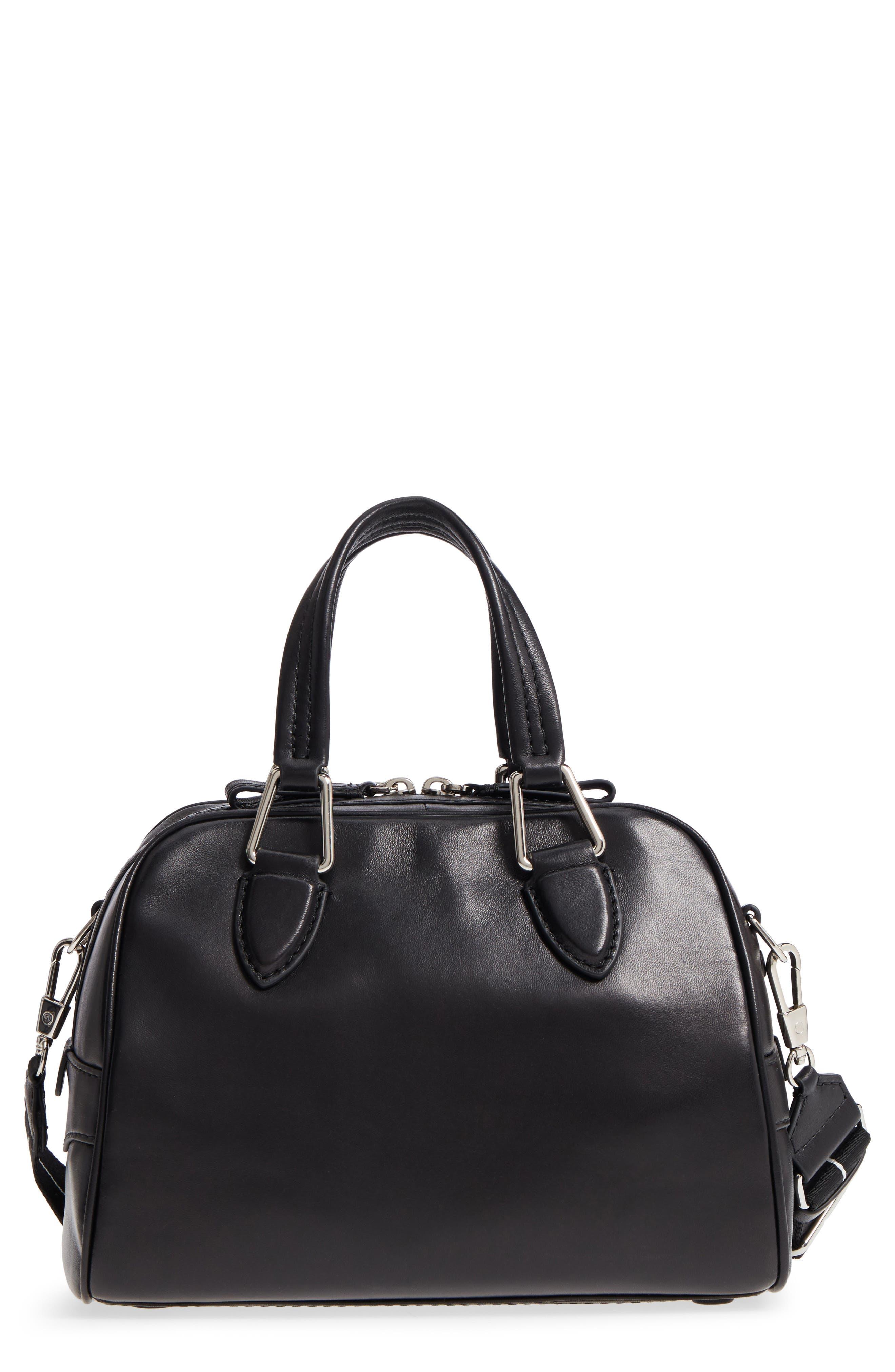 Small Ray Lambskin Leather Flight Bag,                             Main thumbnail 1, color,                             Black
