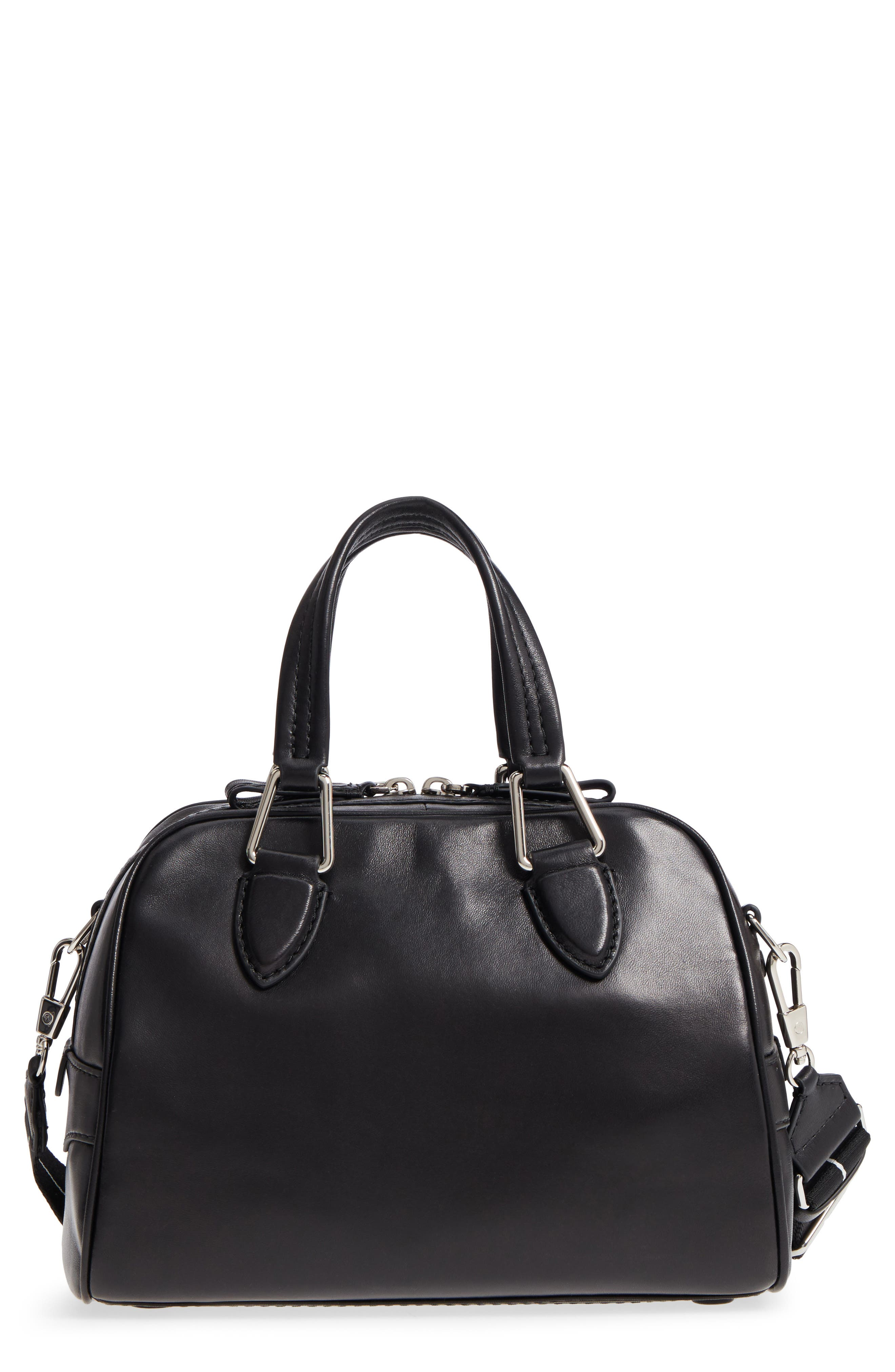 Small Ray Lambskin Leather Flight Bag,                         Main,                         color, Black