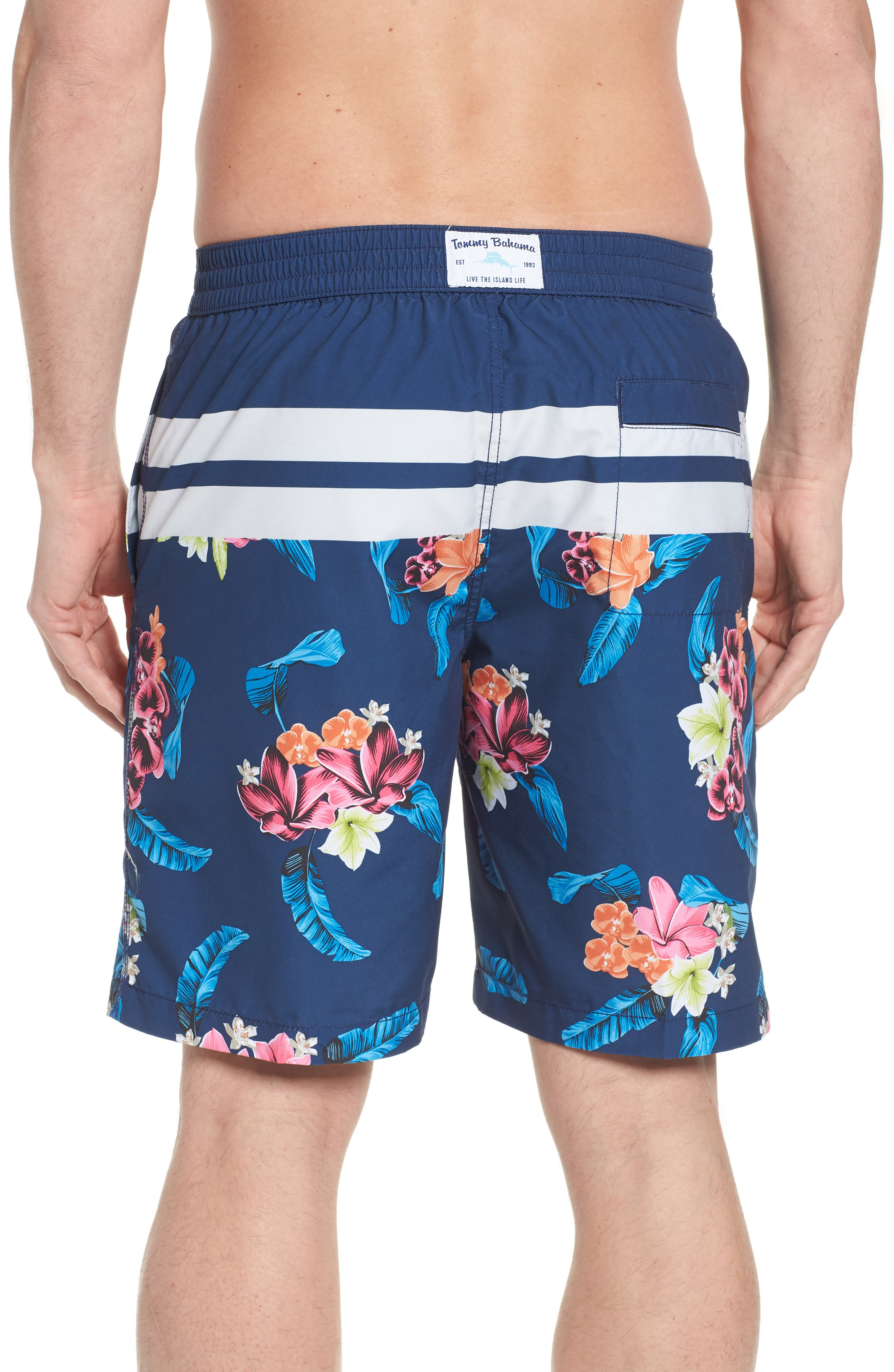 Baja Saltwater Blooms Board Shorts,                             Alternate thumbnail 2, color,                             Throne Blue