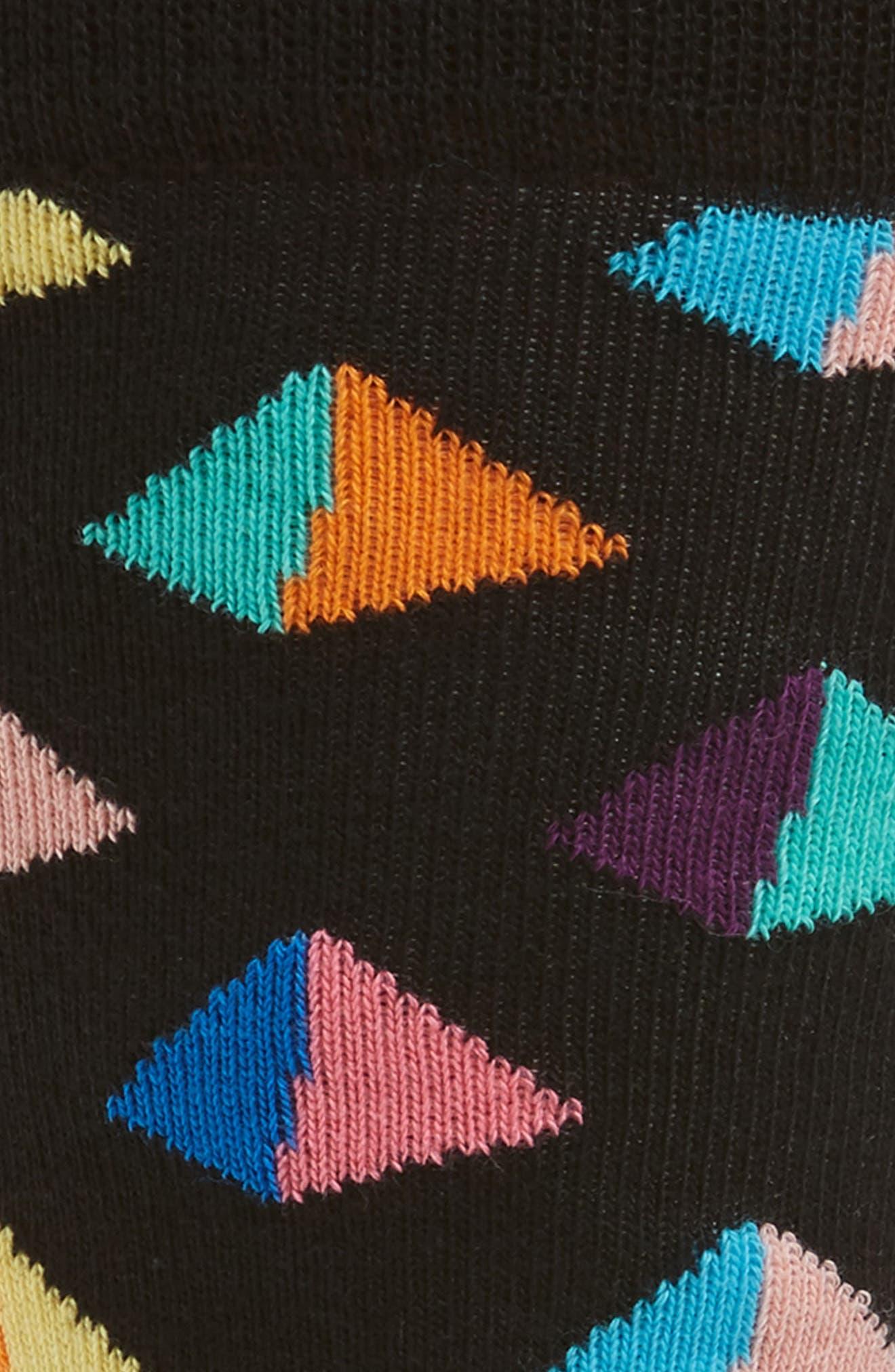 Pyramid Socks,                             Alternate thumbnail 2, color,                             Black Multi