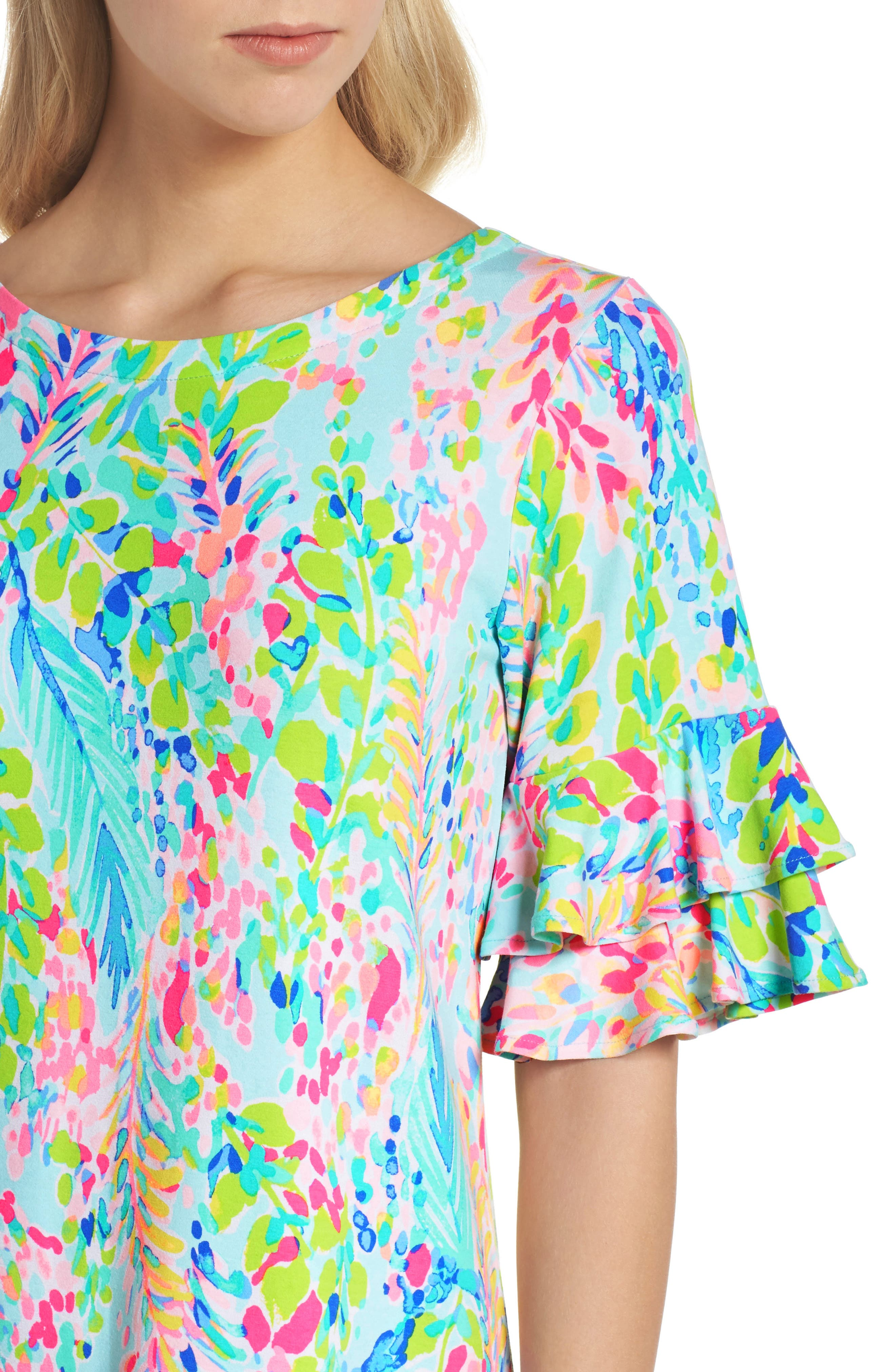 Lula Ruffle Sleeve Dress,                             Alternate thumbnail 2, color,                             Multi Catch The Wave