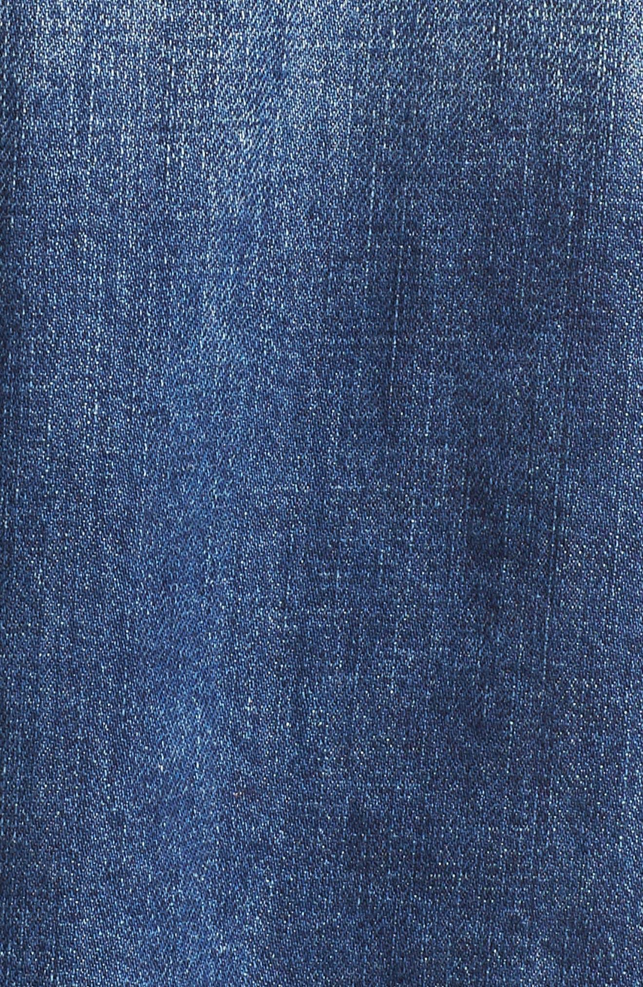 Oversize Colorblock Denim Jacket,                             Alternate thumbnail 6, color,                             Oakhurst