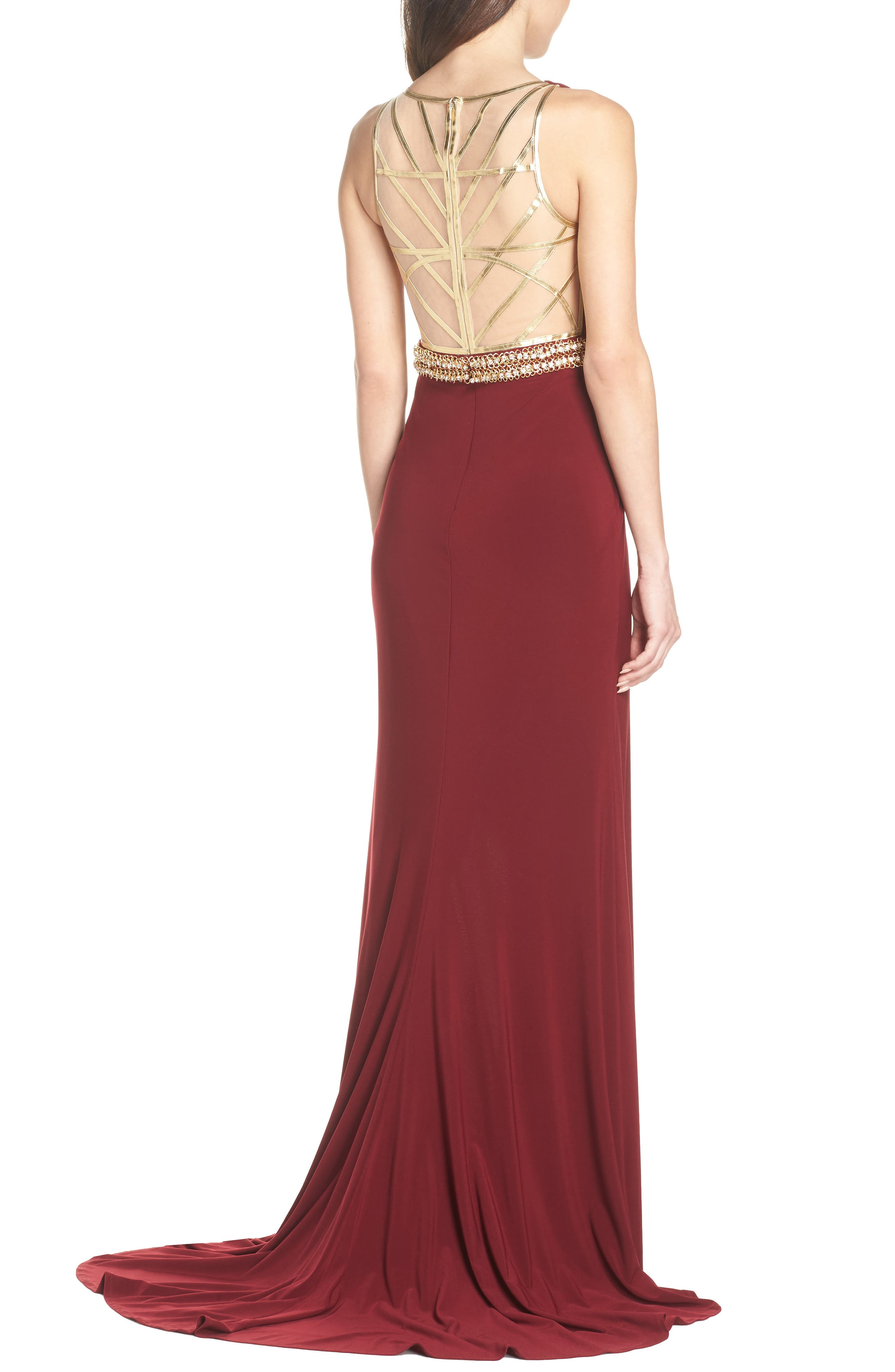 Alternate Image 2  - Mac Duggal Embellished Waist Gown