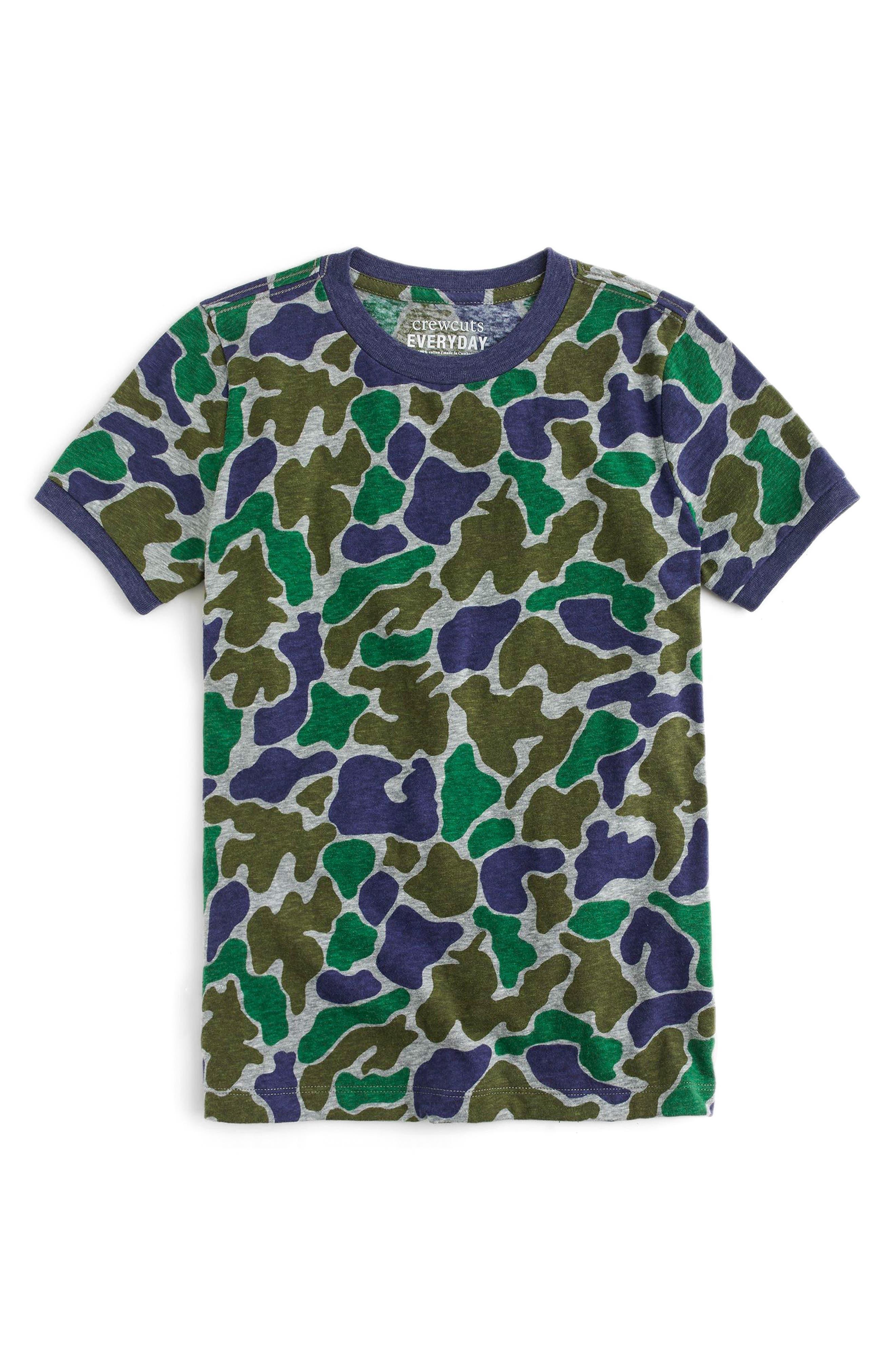 Camo T-Shirt,                             Main thumbnail 1, color,                             Boulder