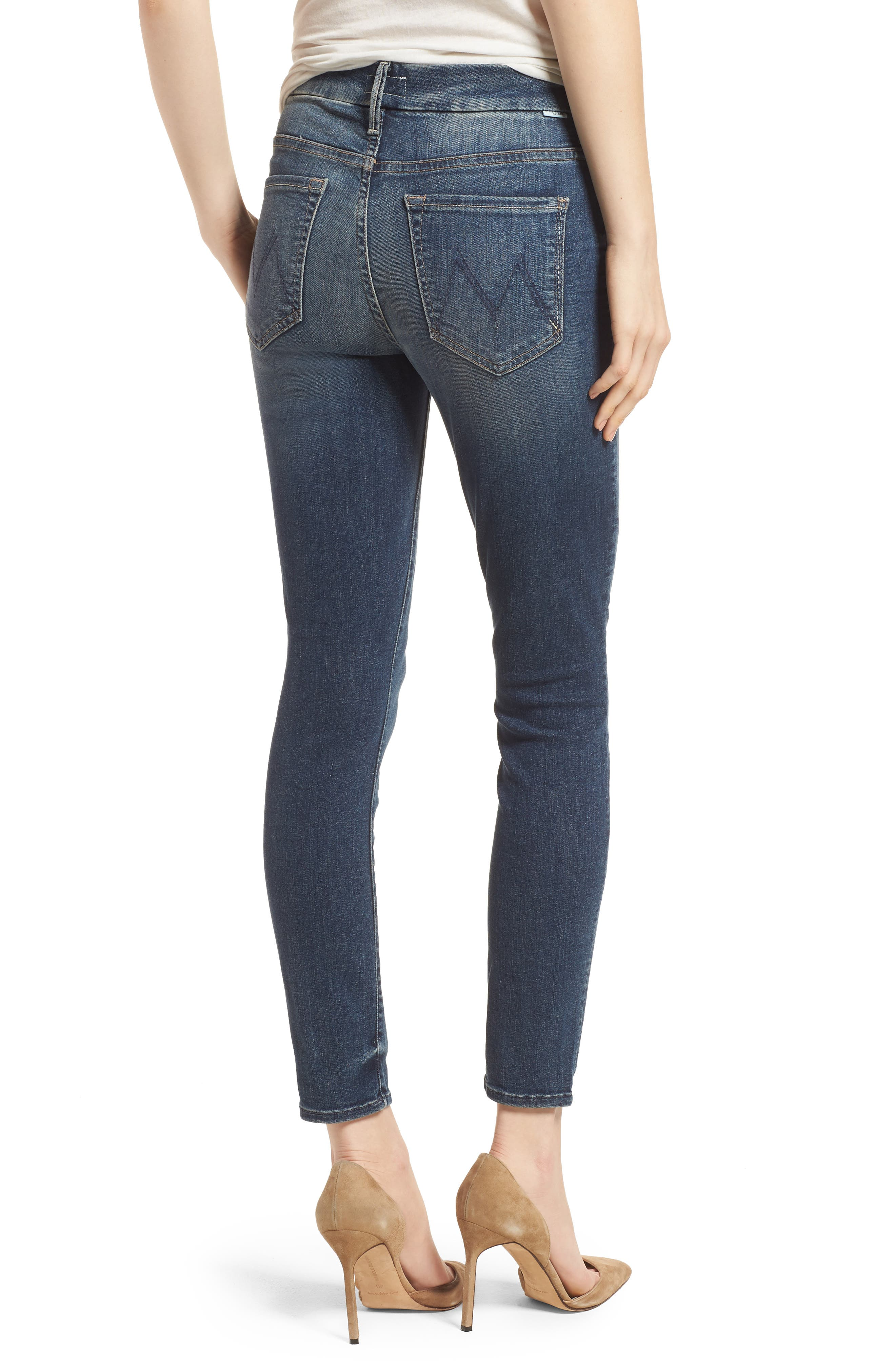 The Looker High Waist Crop Skinny Jeans,                             Alternate thumbnail 2, color,                             Bake Sale Brawl