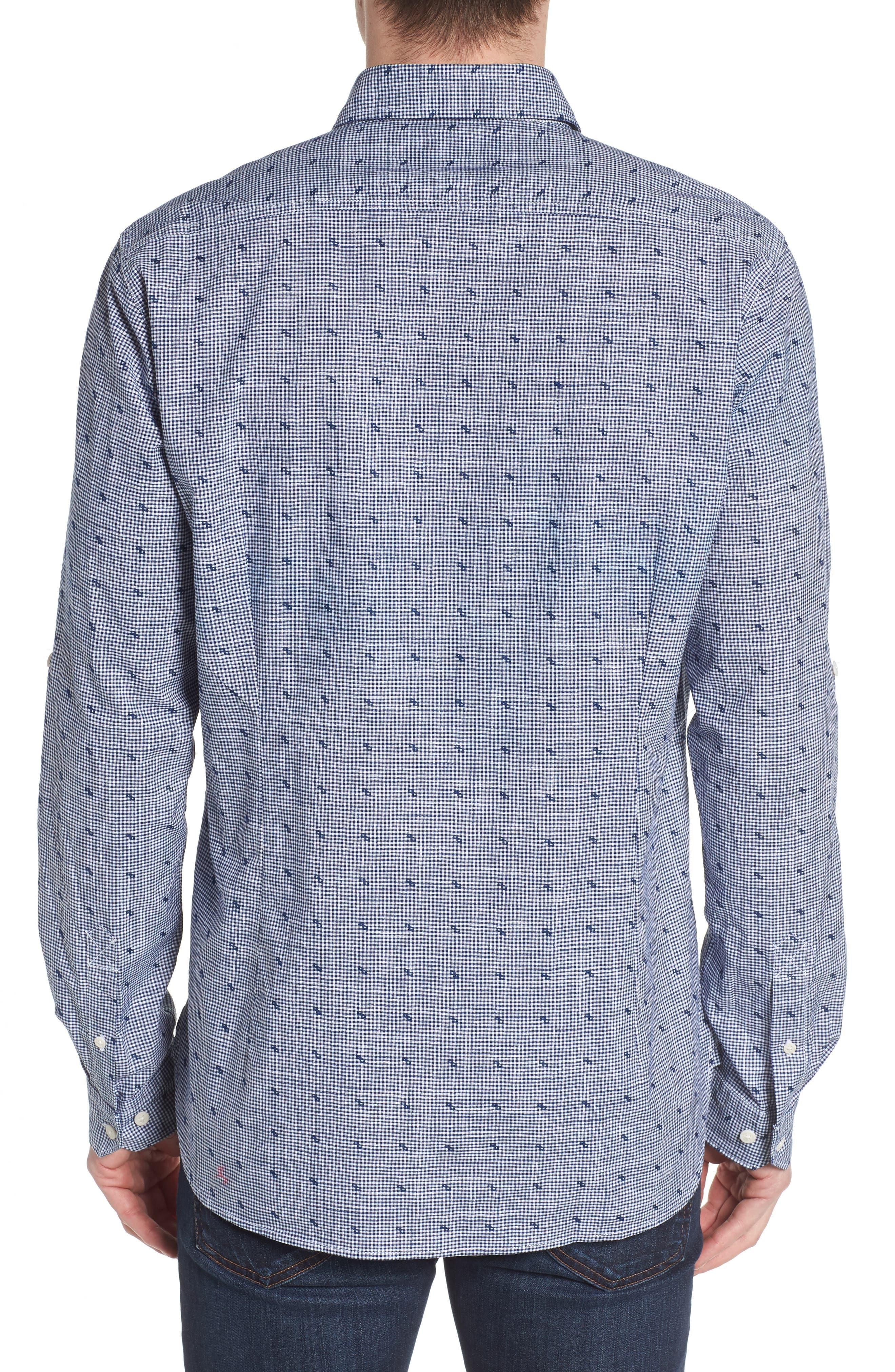 Beluga Regular Fit Check Sport Shirt,                             Alternate thumbnail 3, color,                             Navy