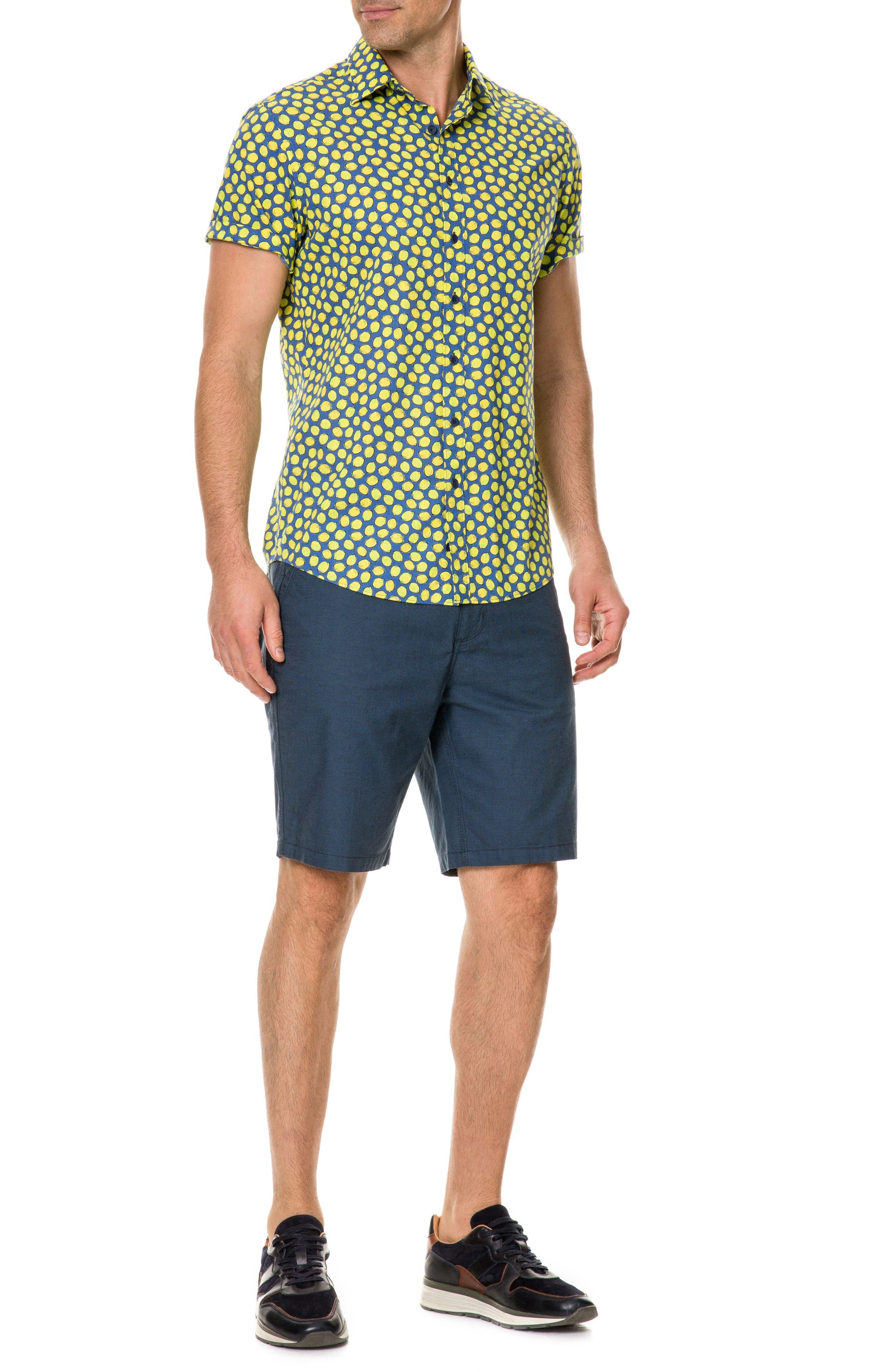 Davis Bay Regular Fit Sport Shirt,                             Alternate thumbnail 5, color,                             Azure