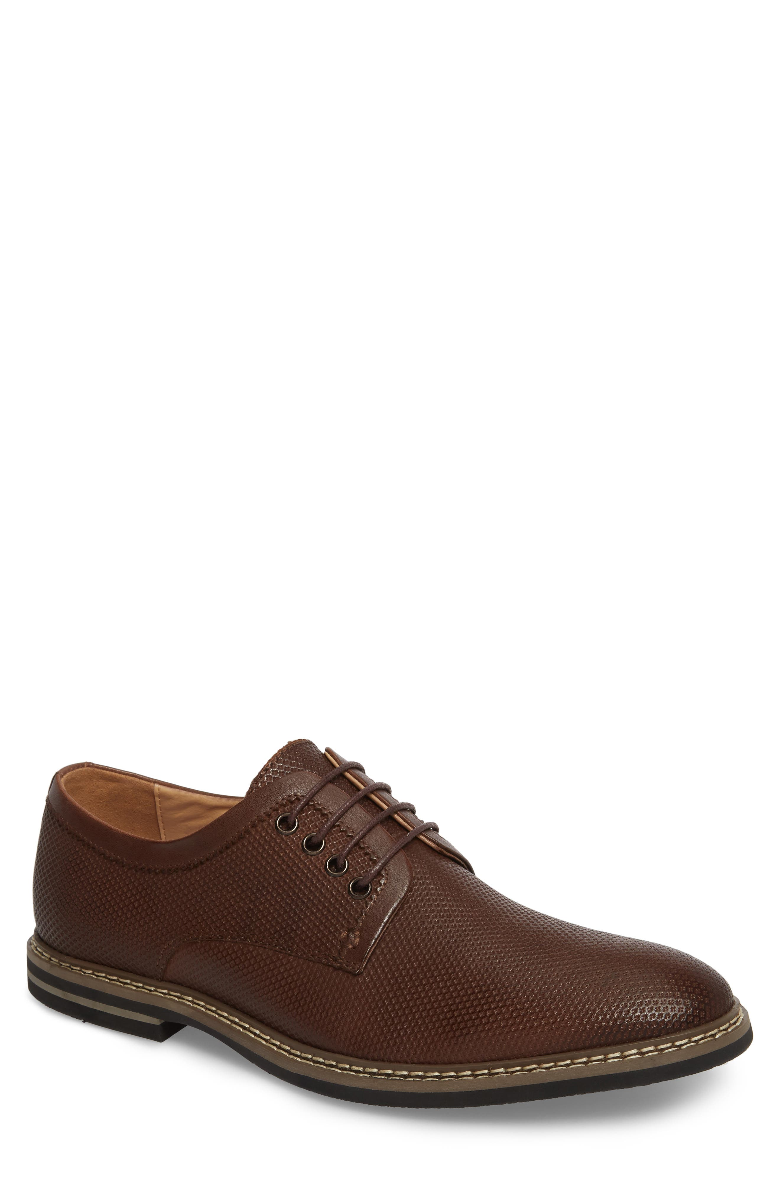 Canning Plain Toe Derby,                         Main,                         color, Brown Leather