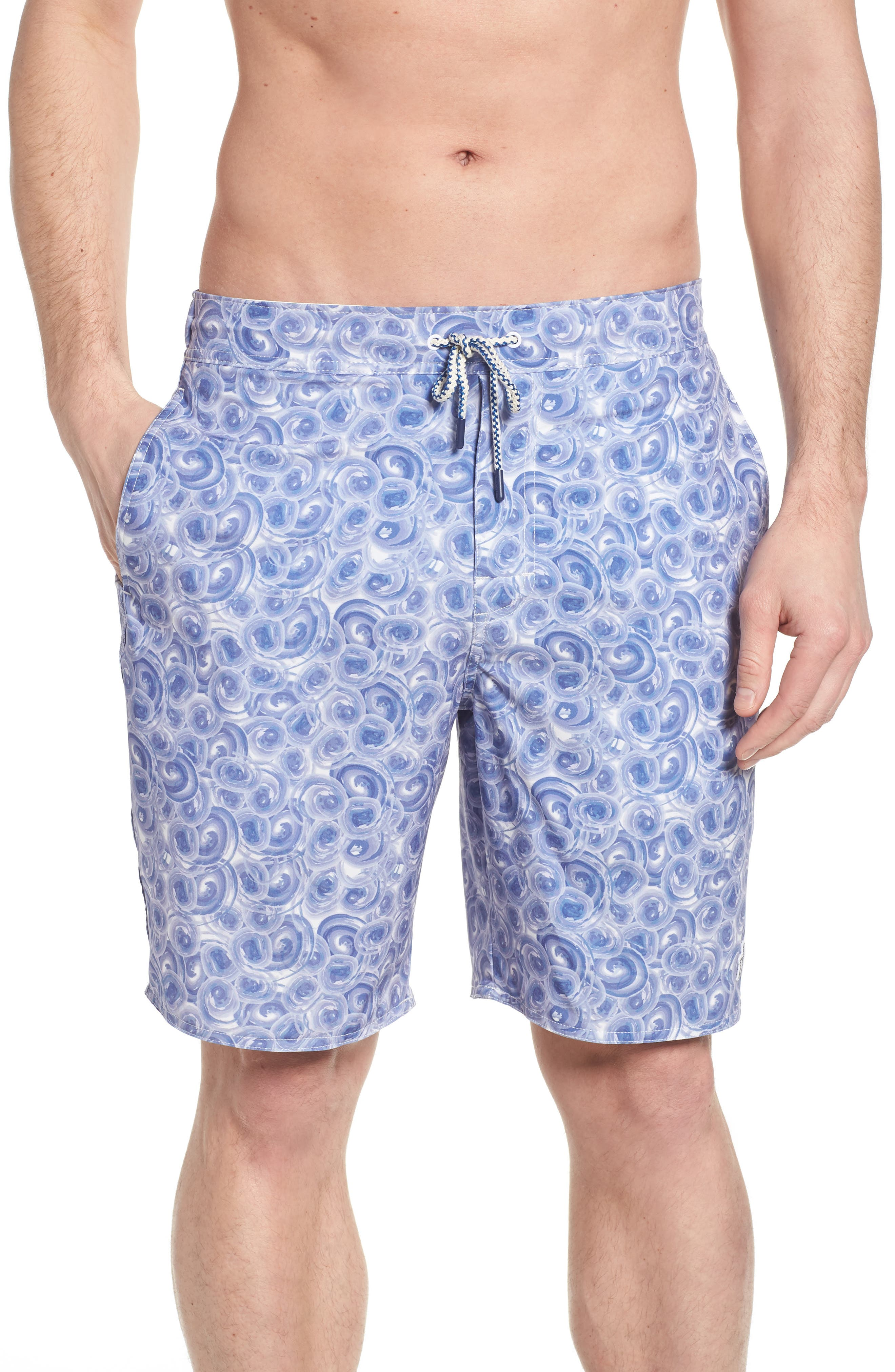 High Tide Regular Fit Board Shorts,                             Main thumbnail 1, color,                             Gulf Blue