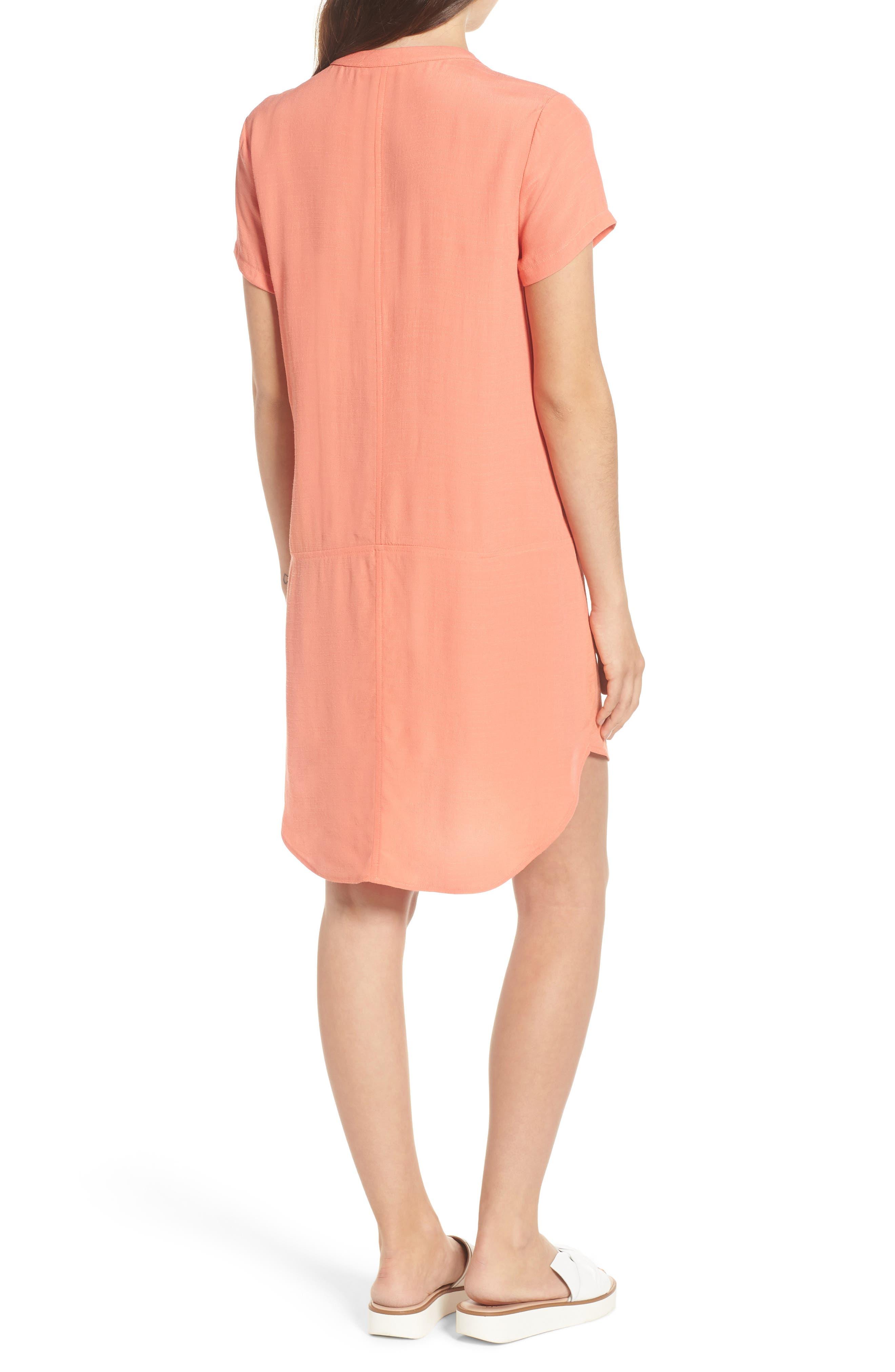 Alternate Image 2  - Split Neck Shift Dress