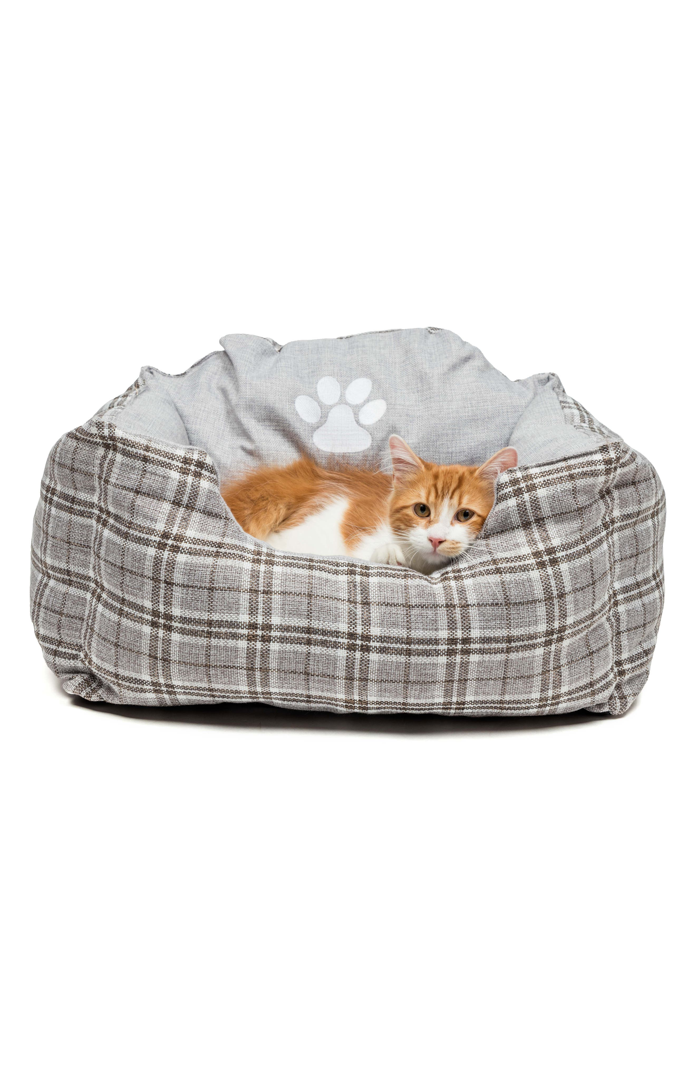 Harlee Small Square Pet Bed,                             Alternate thumbnail 2, color,                             Grey