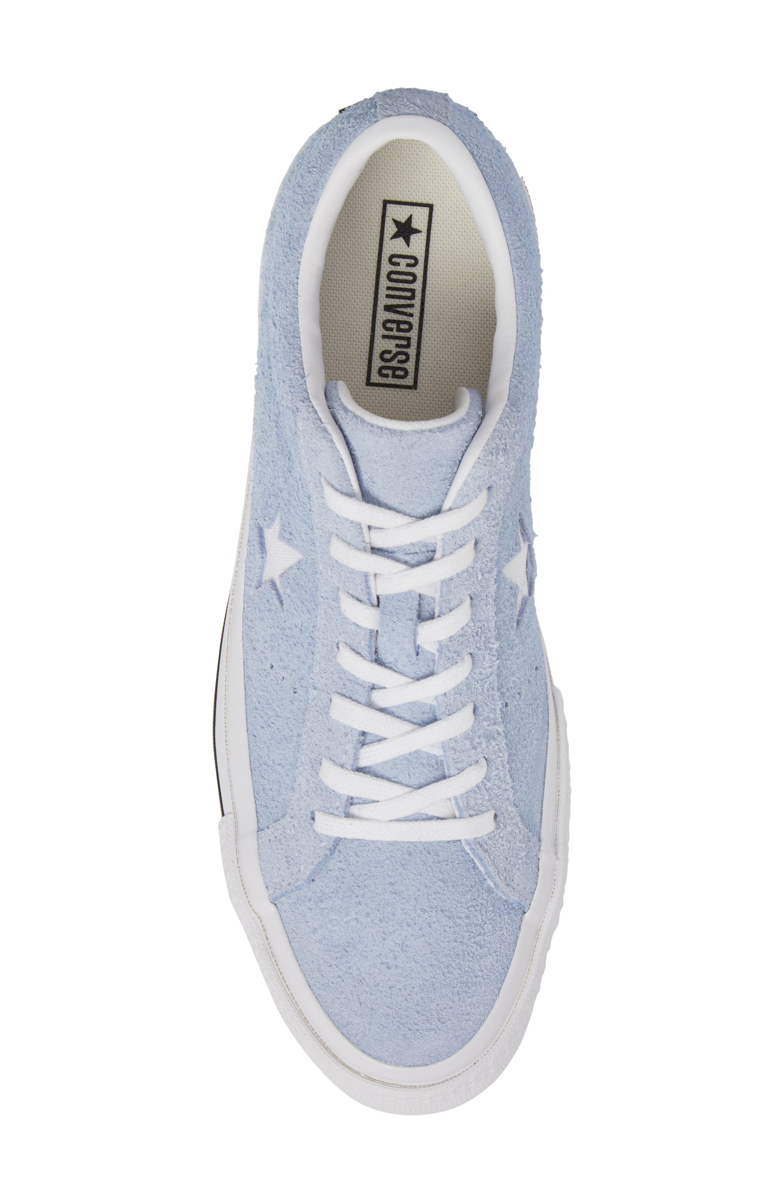 One Star Sneaker,                             Alternate thumbnail 5, color,                             Blue Chill Suede