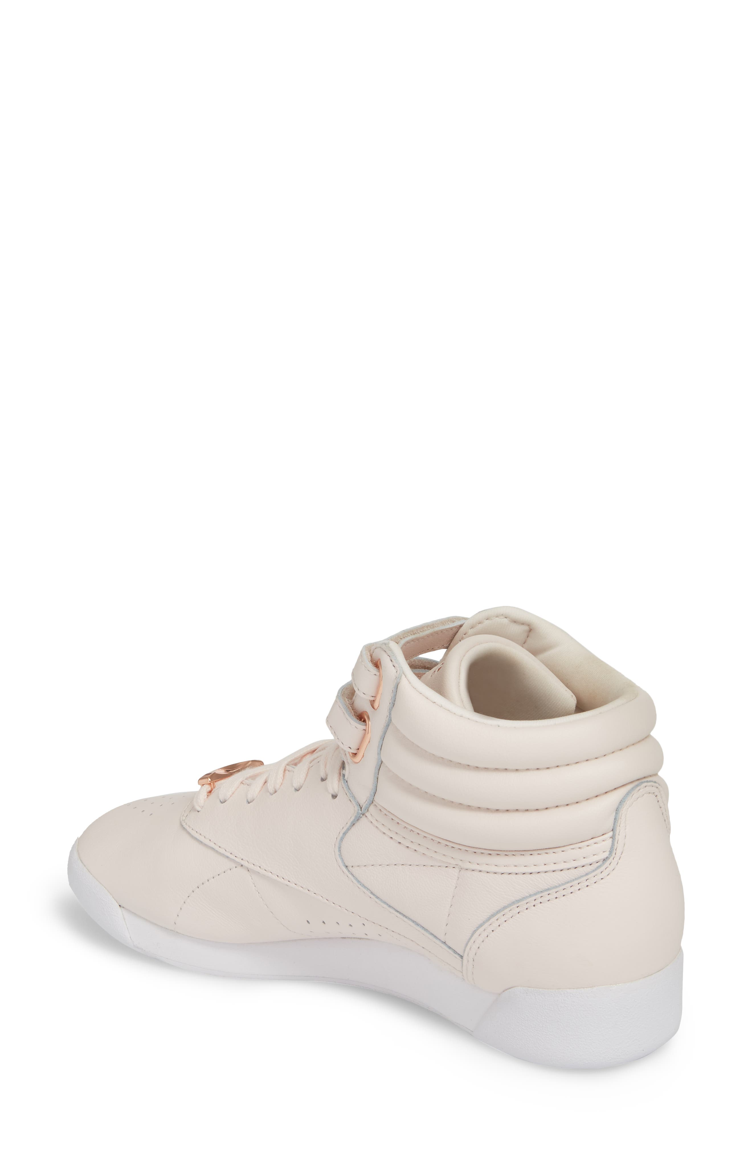 Freestyle Hi Muted Sneaker,                             Alternate thumbnail 2, color,                             Pale Pink/ White/ Cool Shadow
