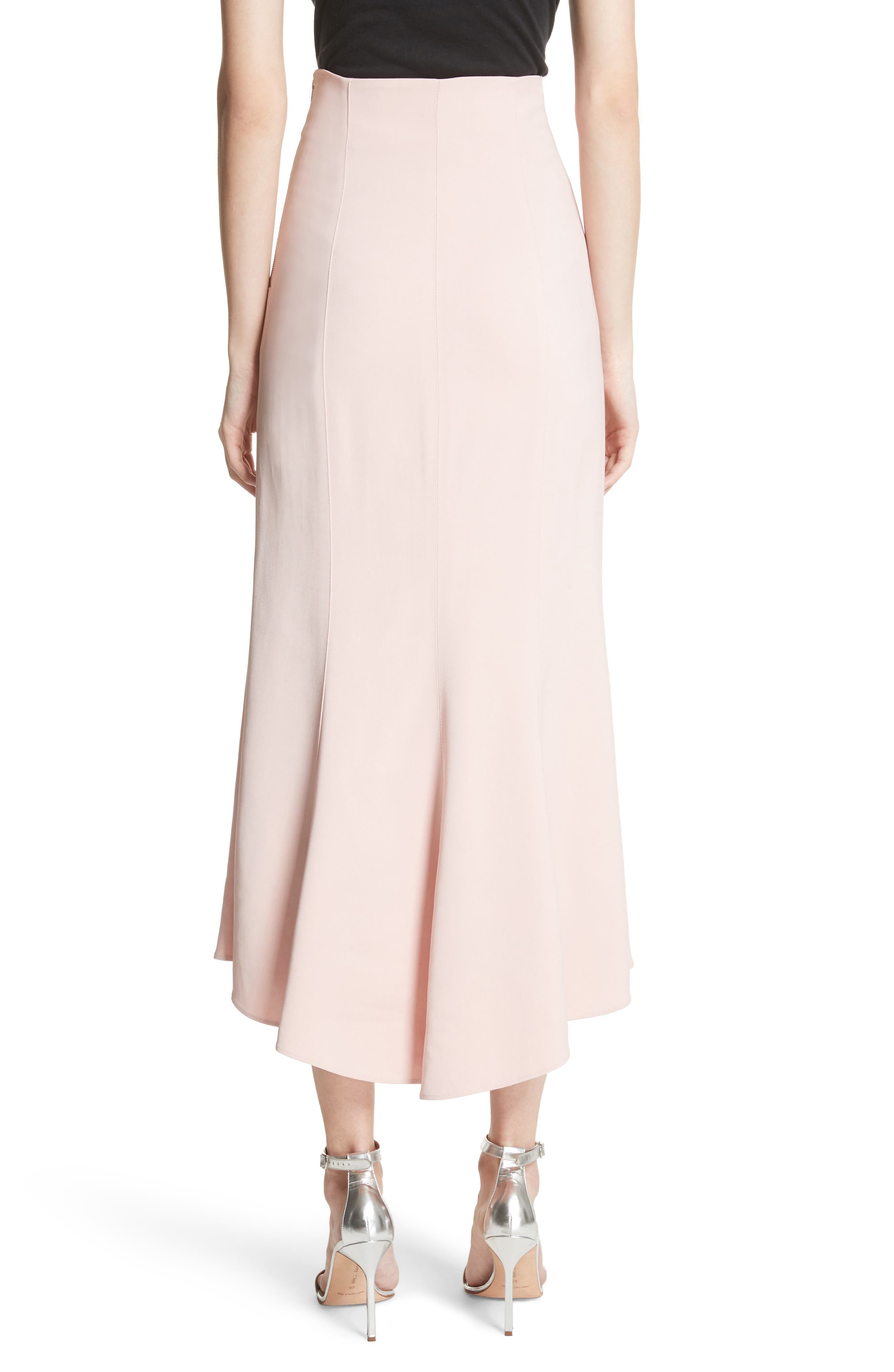 High Waist Midi Skirt,                             Alternate thumbnail 2, color,                             Cosmetic Pink