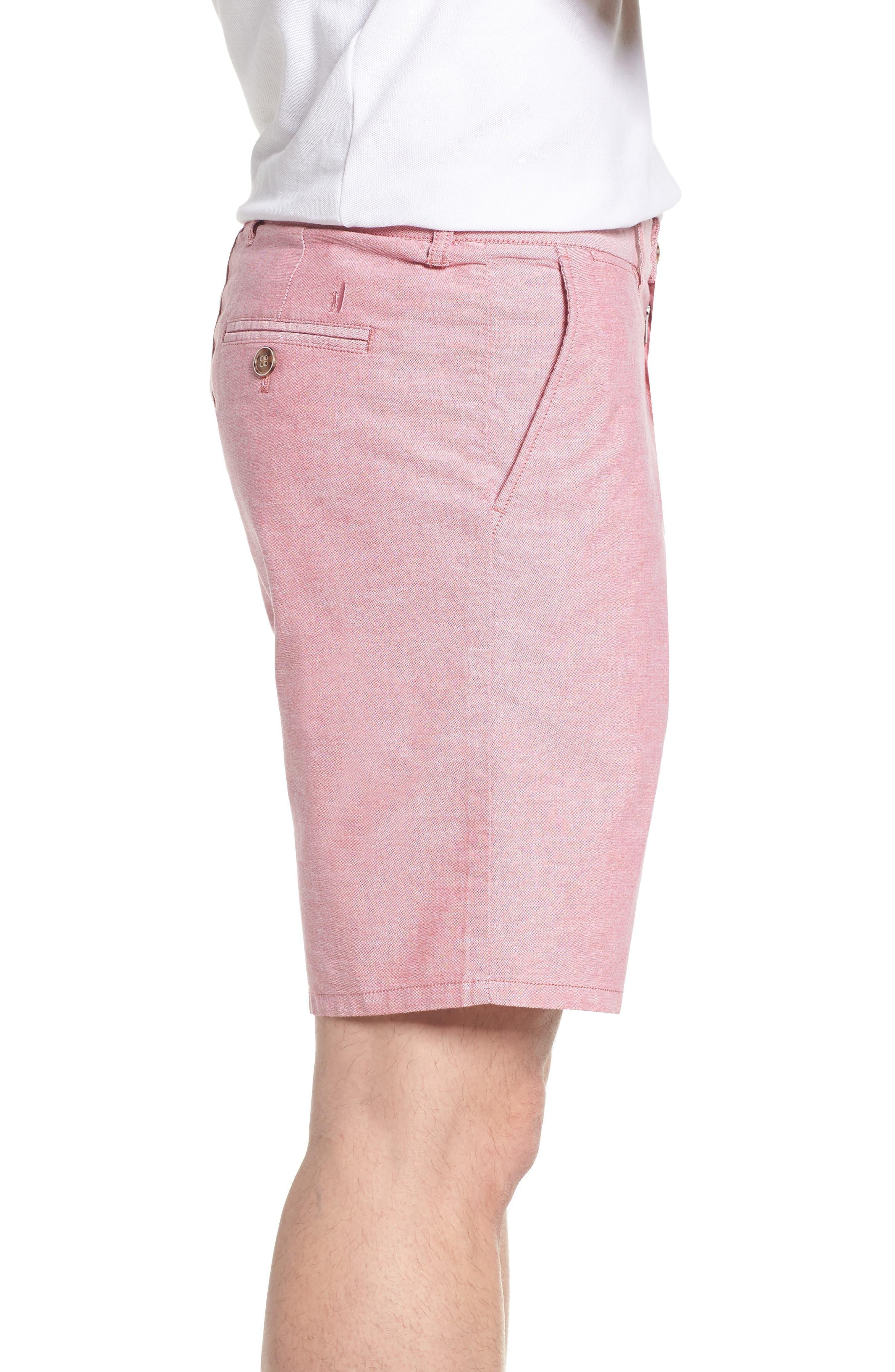 Merritt Regular Fit Shorts,                             Alternate thumbnail 3, color,                             Malibu Red