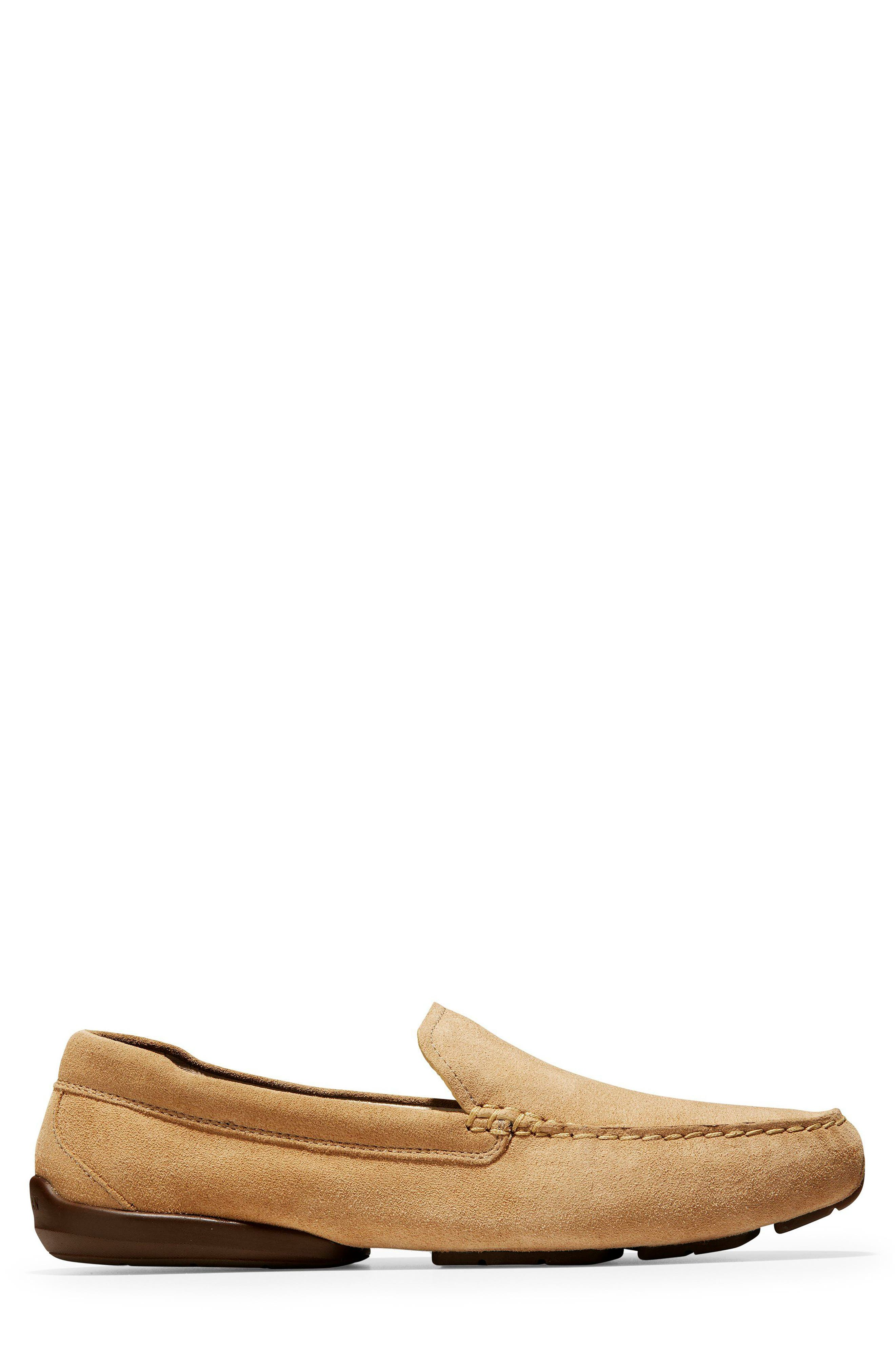 Branson Driving Shoe,                             Alternate thumbnail 3, color,                             Iced Coffee Suede