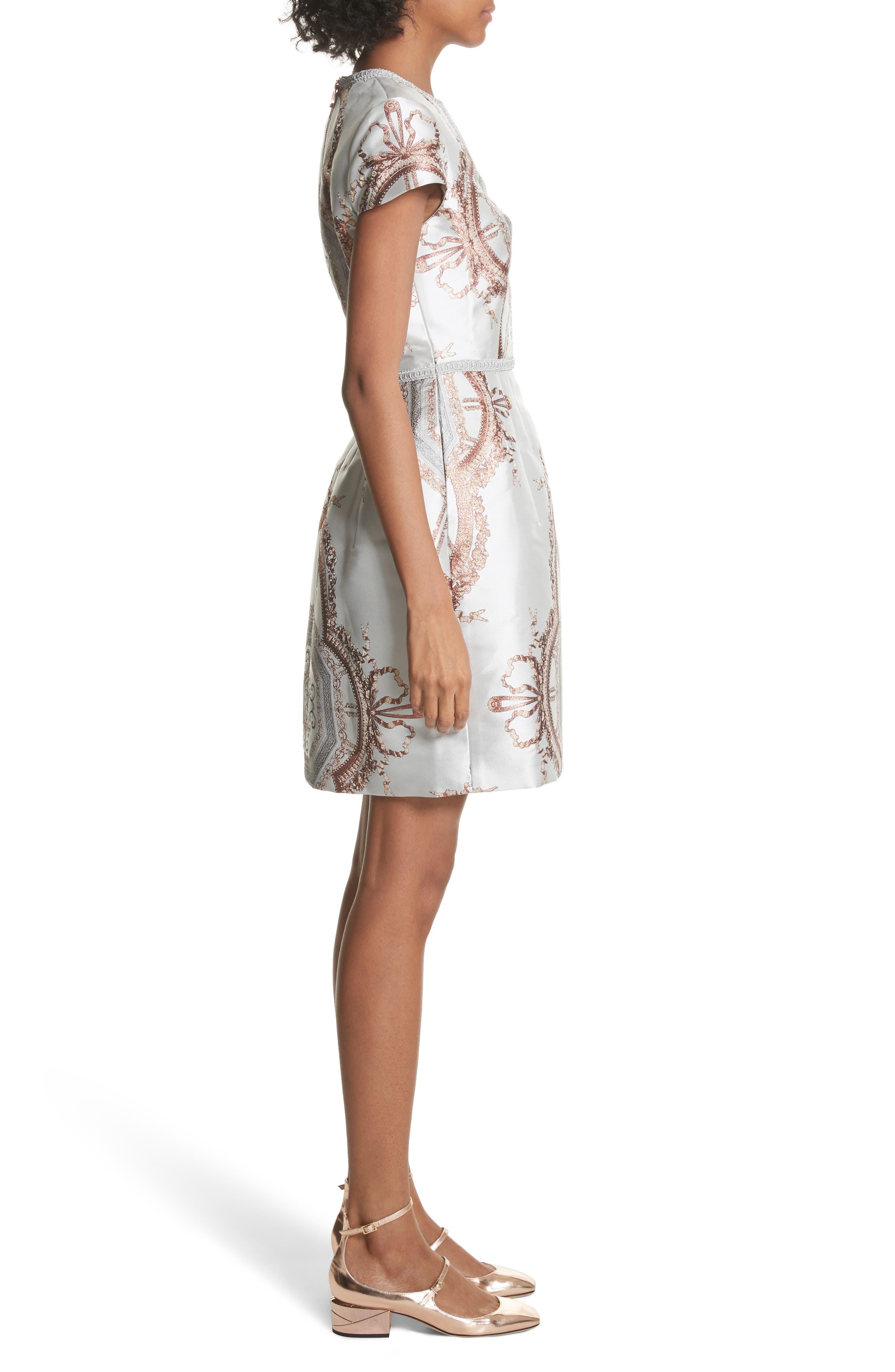Versailles Dress,                             Alternate thumbnail 3, color,                             White