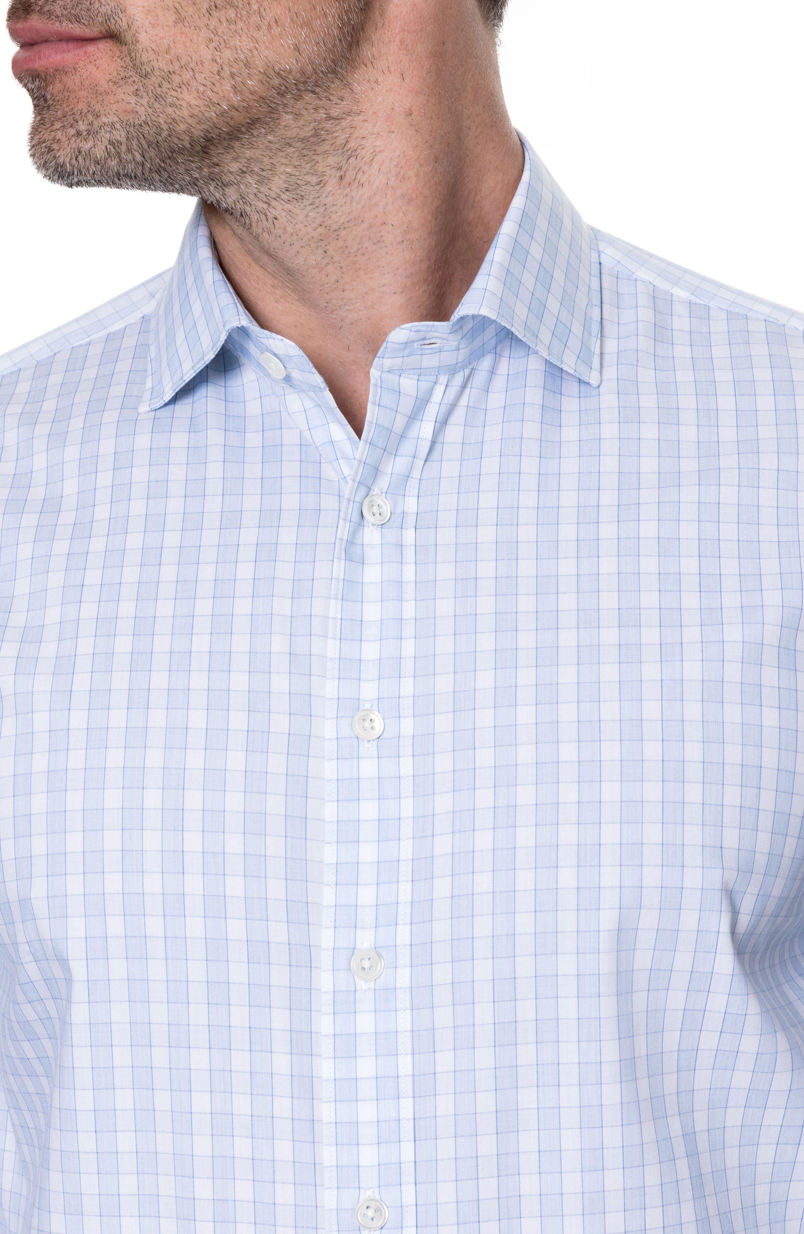 Brackley Slim Fit Sport Shirt,                             Alternate thumbnail 2, color,                             Sky