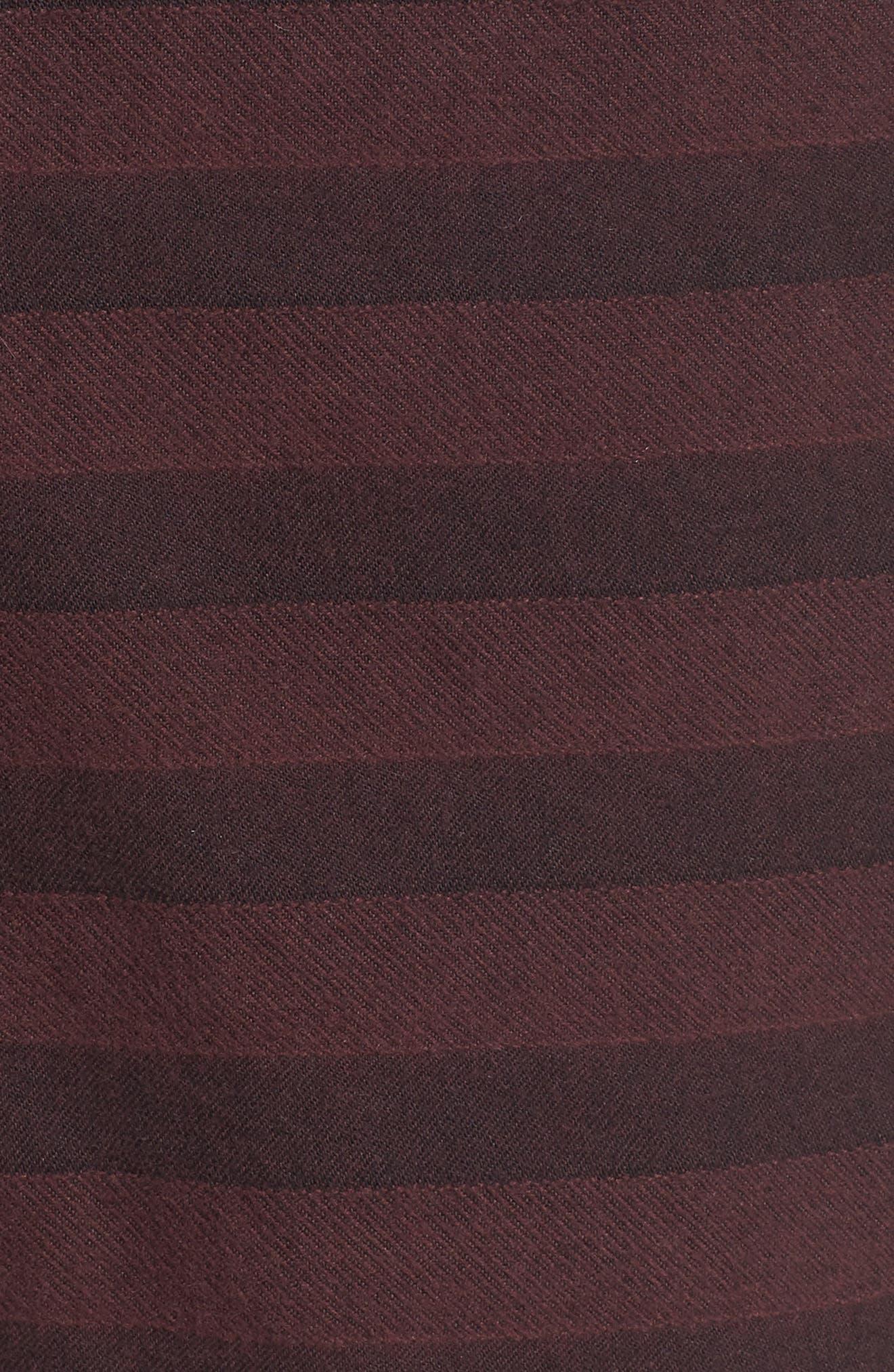 Morgan Stripe Bermuda Shorts,                             Alternate thumbnail 5, color,                             Burgundy