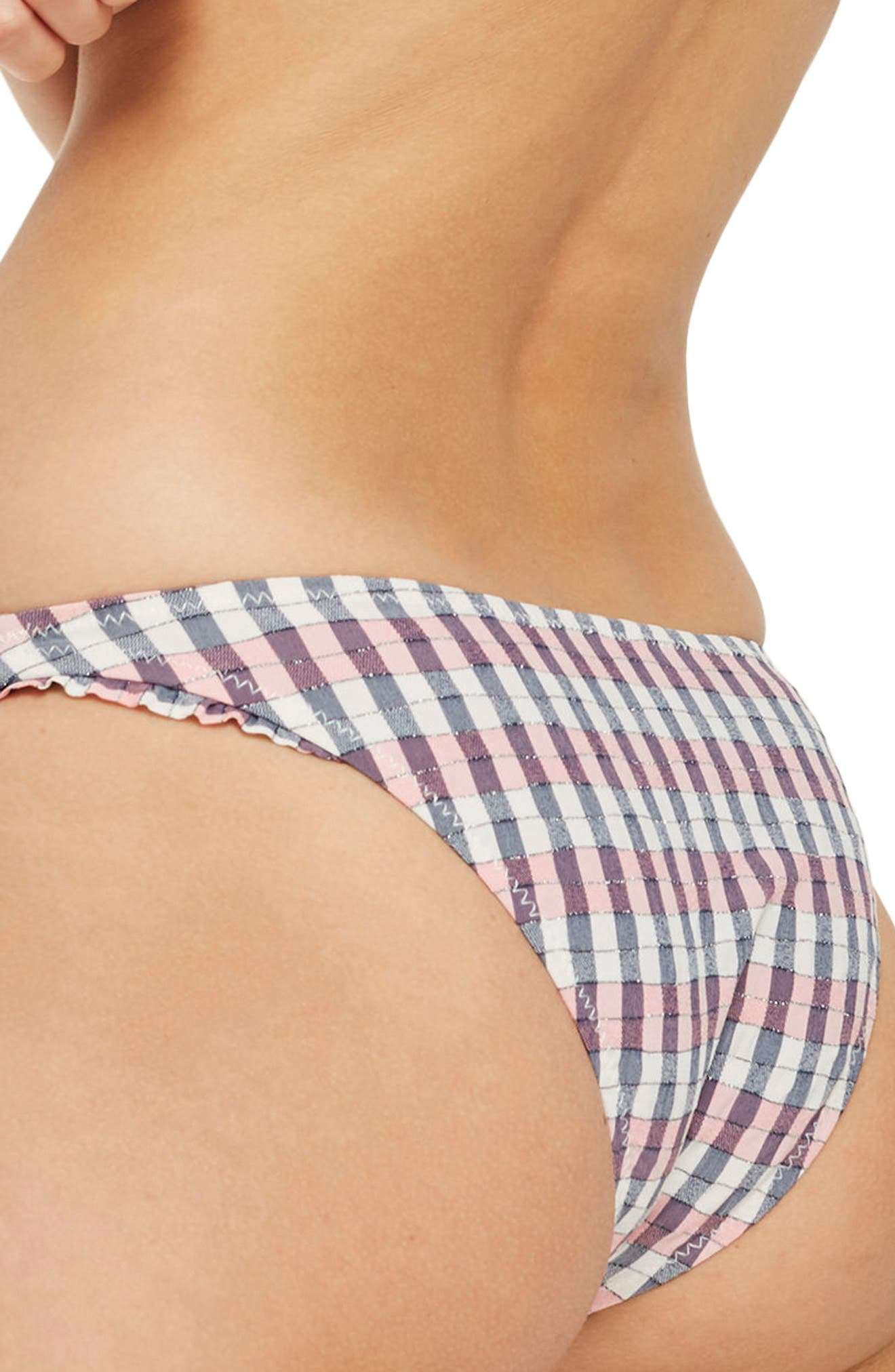 Check Frill Bottoms,                             Alternate thumbnail 2, color,                             Pink Multi